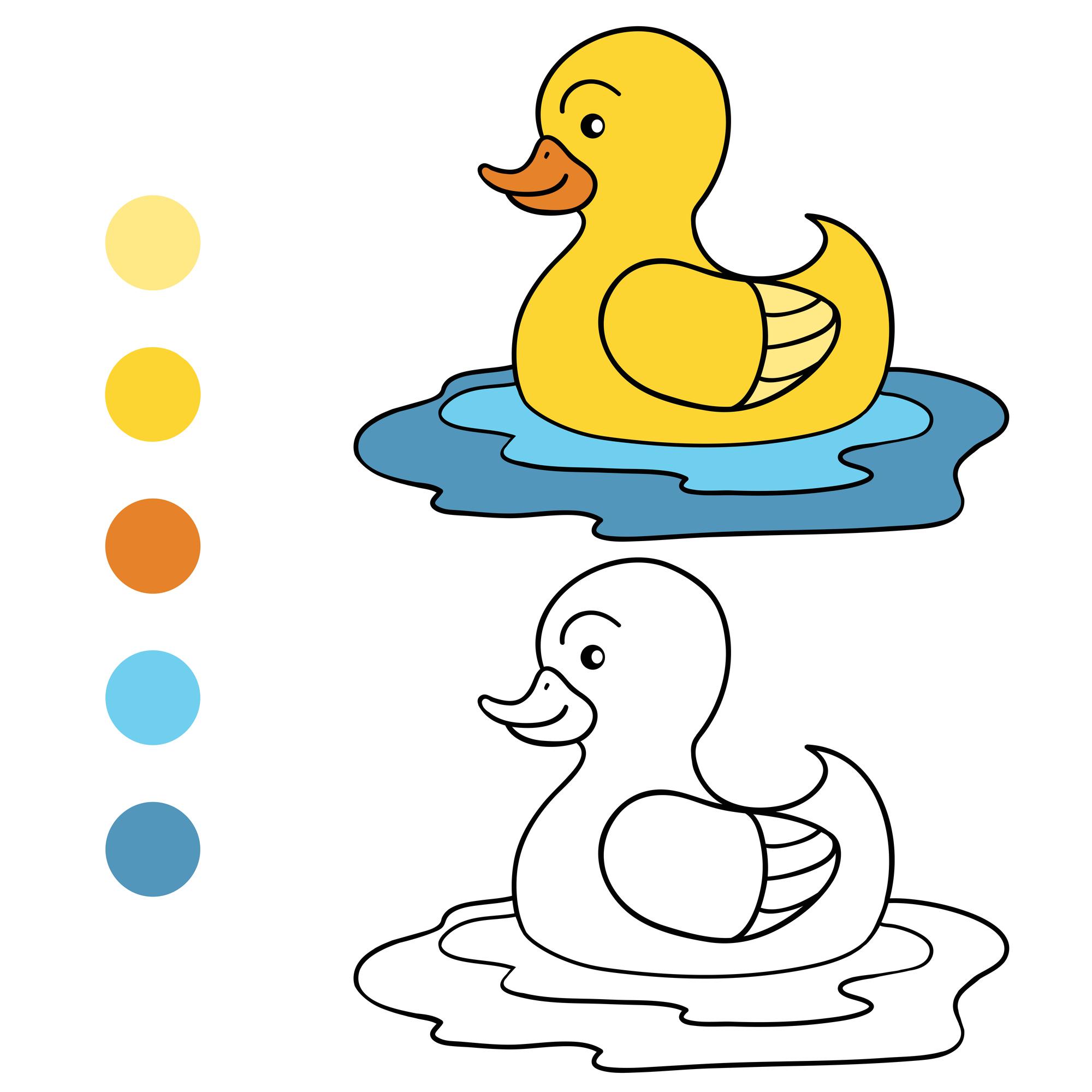 Coloriage À Imprimer : Un Petit Canard destiné Masque Canard À Imprimer