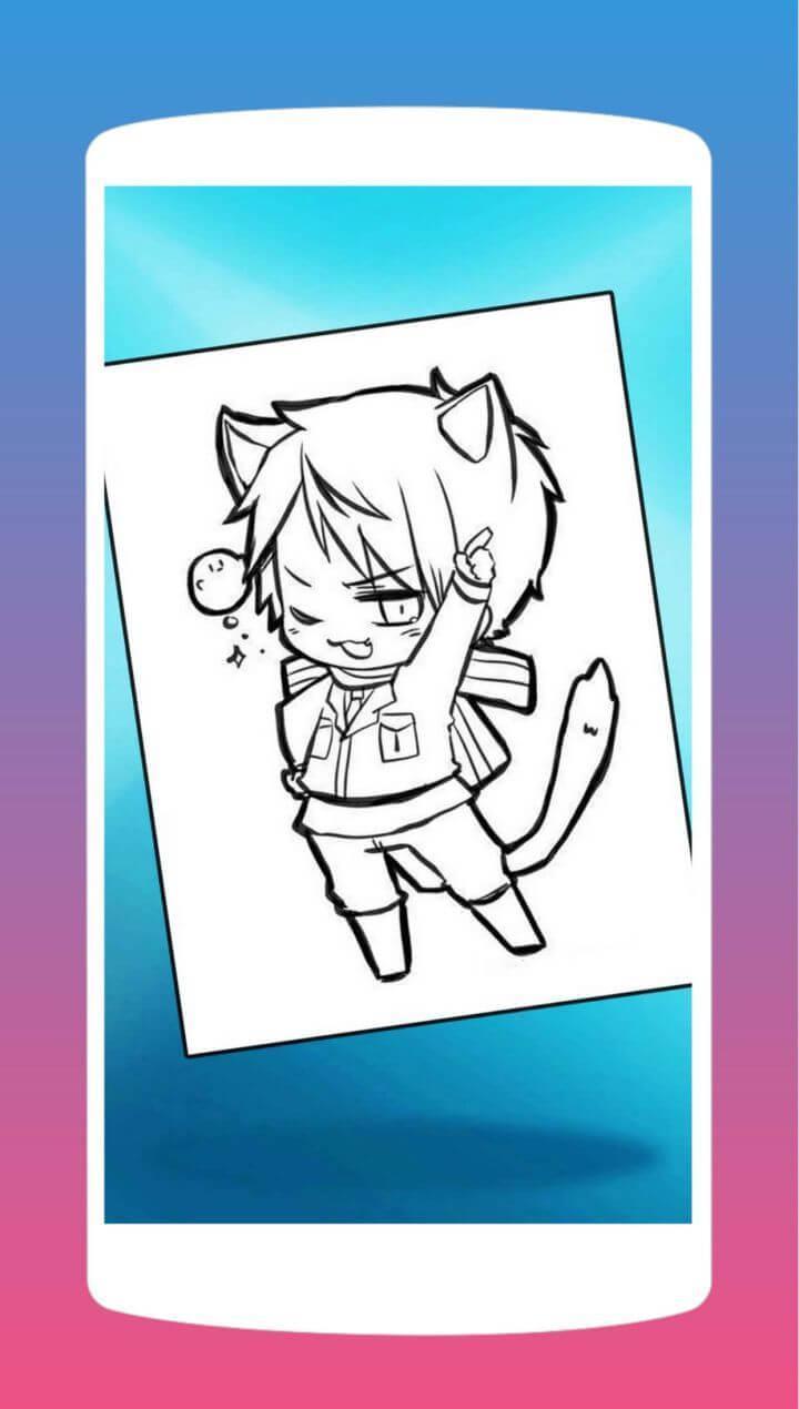 Coloriage Anime Chibi Manga Pour Android - Téléchargez L'apk intérieur Coloriage Manga Kawaii