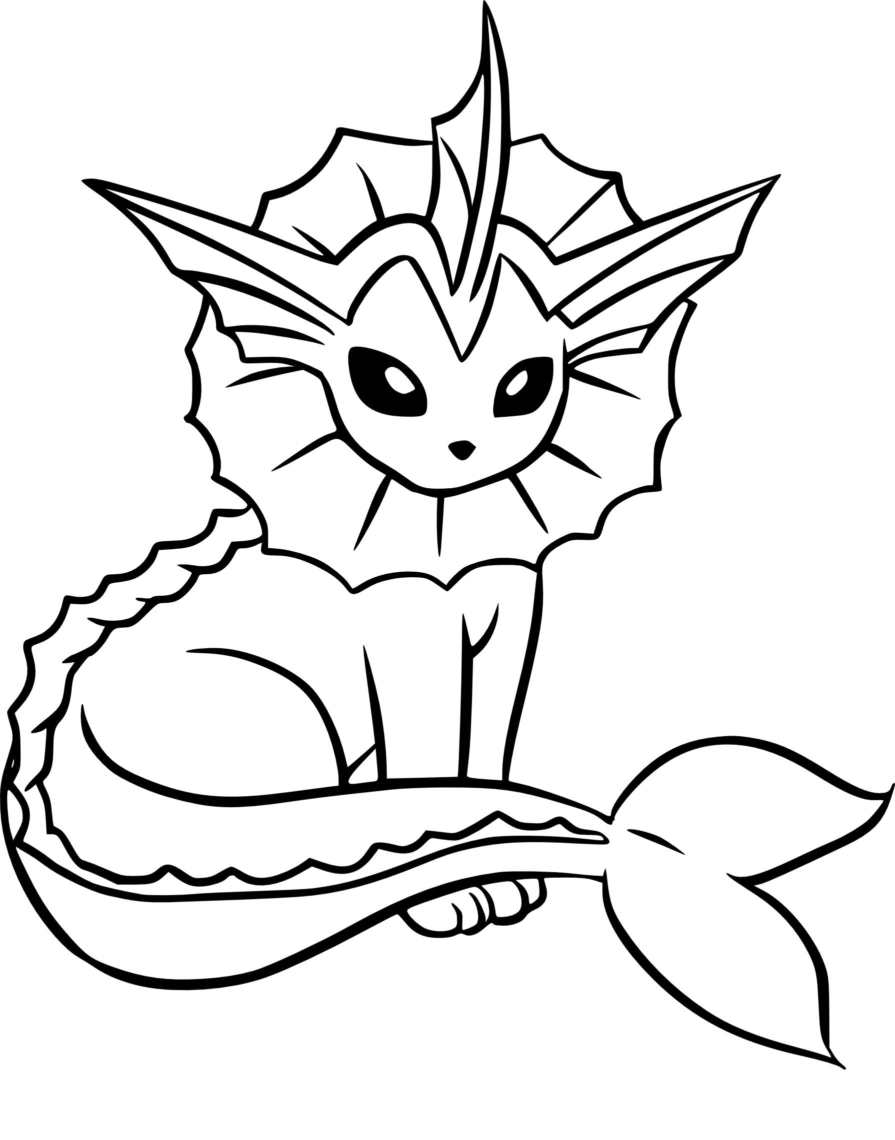Coloriage Aquali Pokemon À Imprimer à Imprimer Coloriage Pokemon