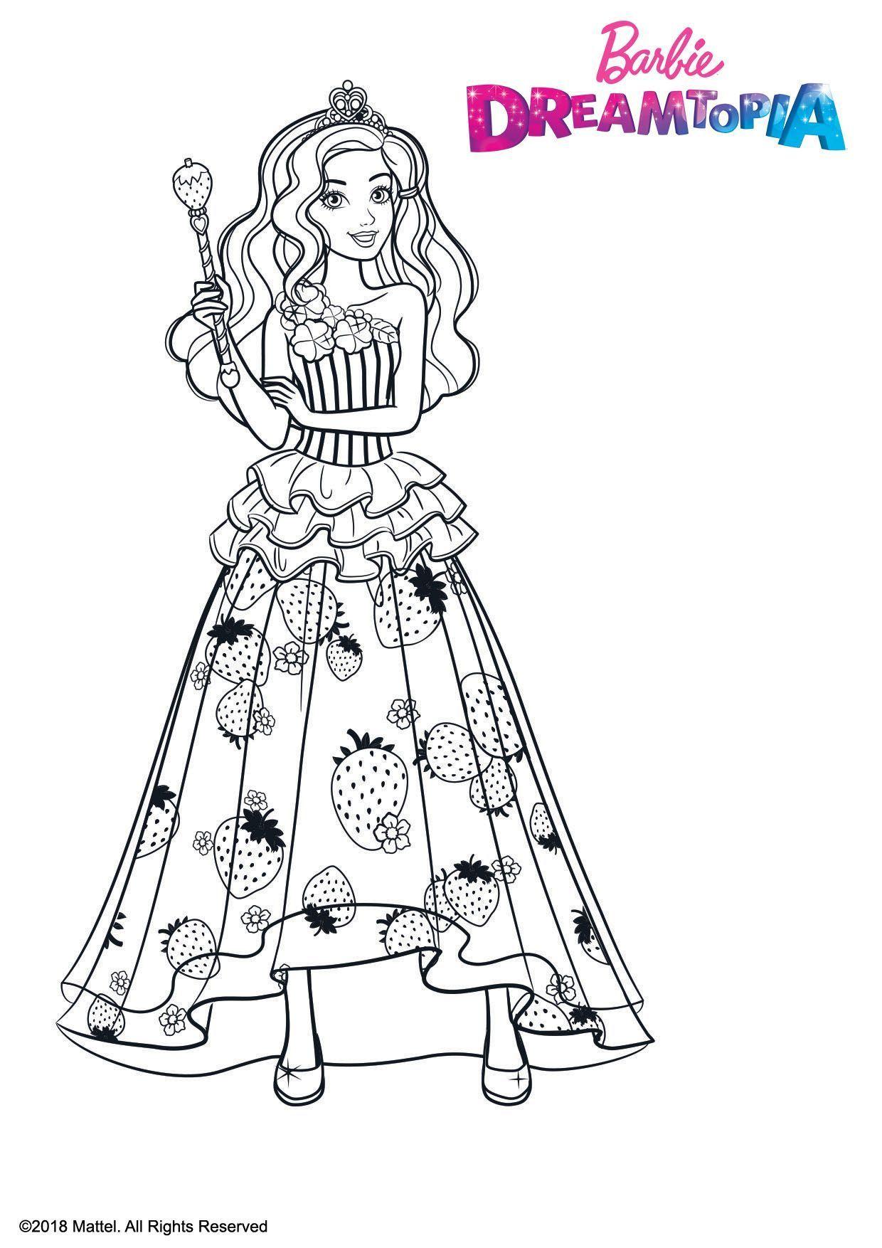 Coloriage Barbie Princesse Bonbons - Coloriage Barbie pour Imprimer Barbie