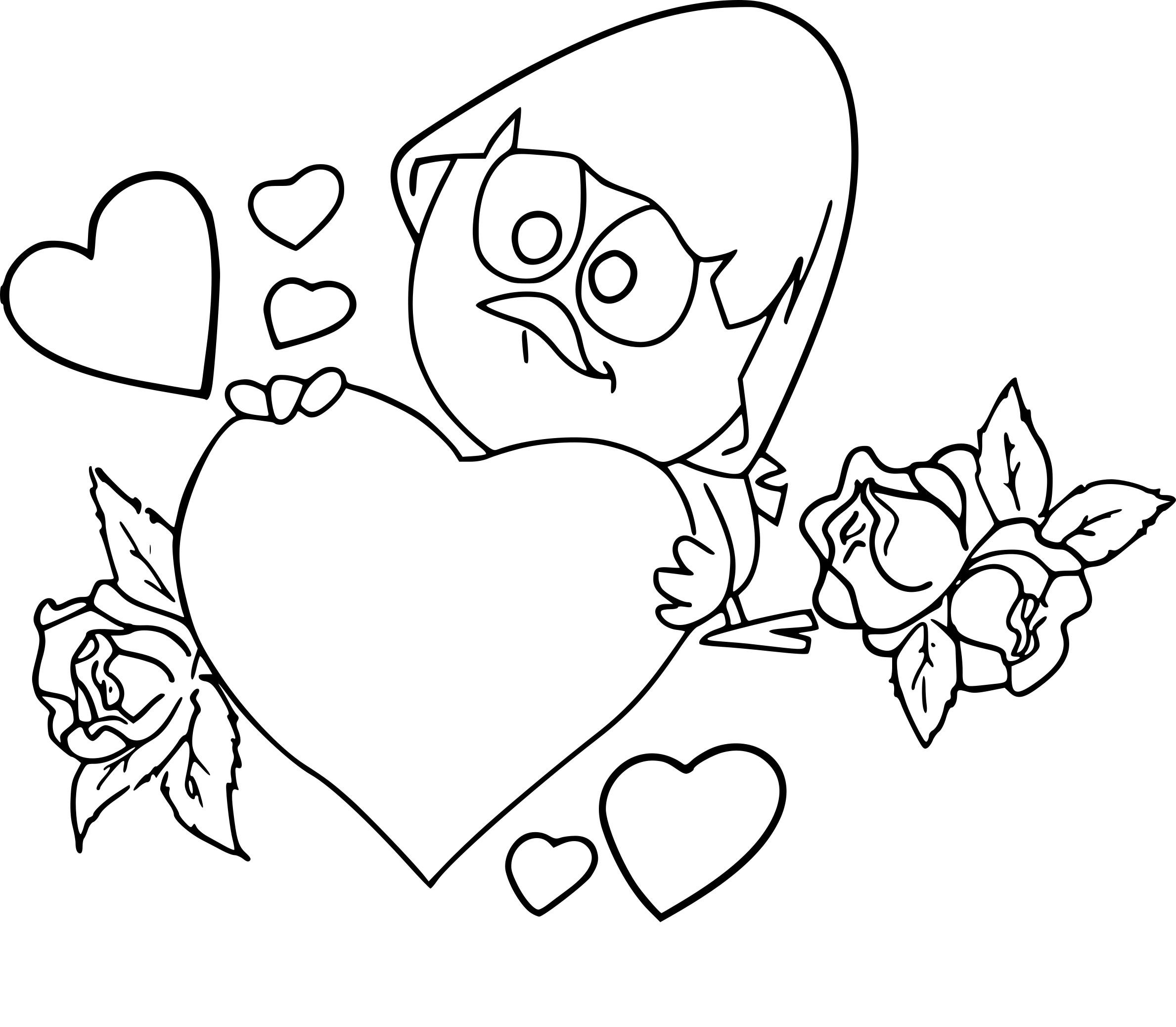 Coloriage Calimero Saint-Valentin À Imprimer Sur Coloriages encequiconcerne Coloriage De St Valentin
