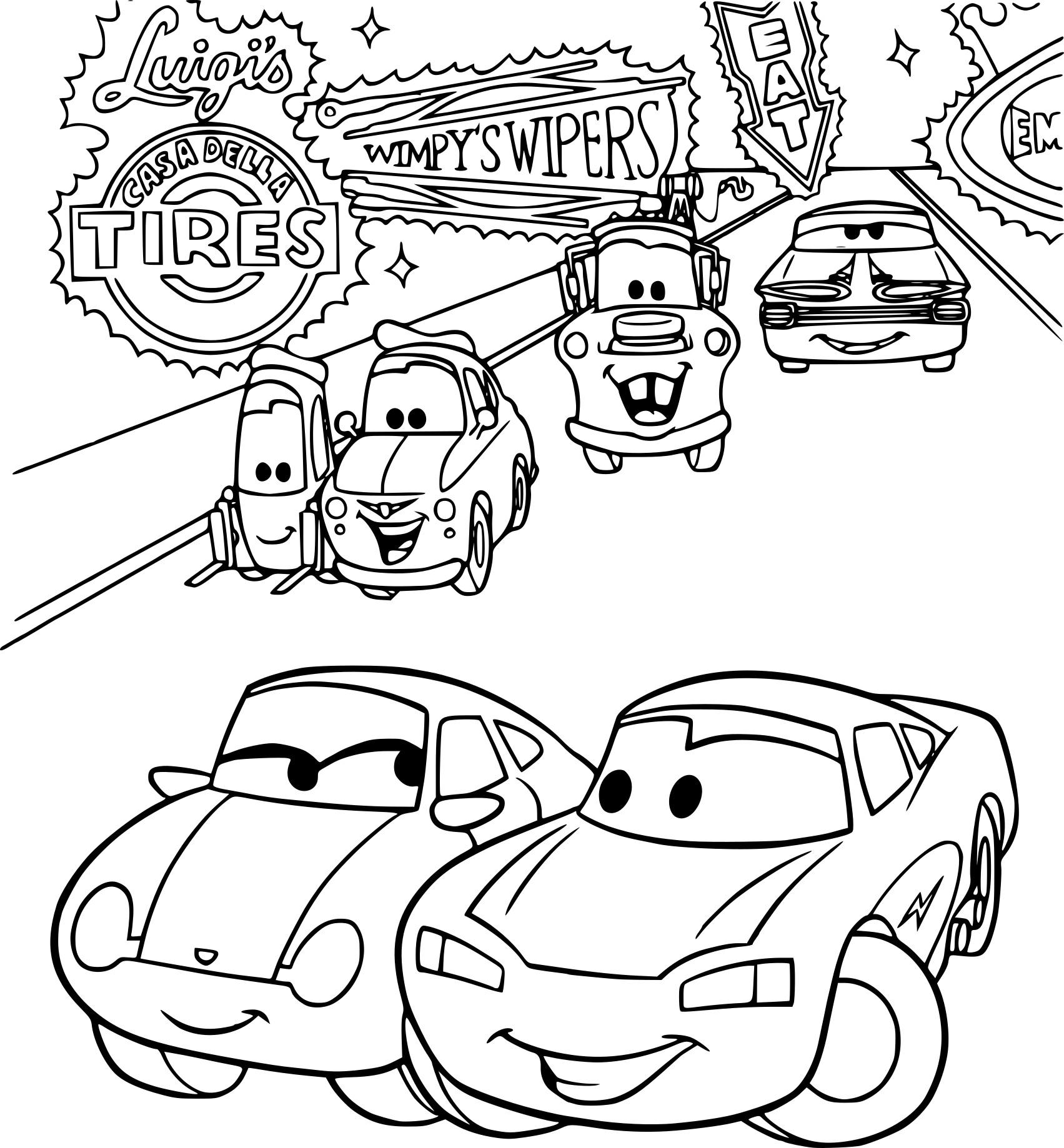 Coloriage Cars Et Ses Amis À Imprimer Sur Coloriages destiné Dessin A Imprimer Gratuit Cars