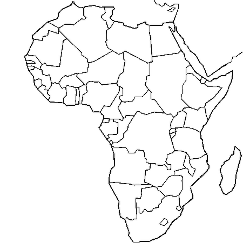 Coloriage Carte Afrique En Ligne Gratuit À Imprimer pour Dessin Mappemonde