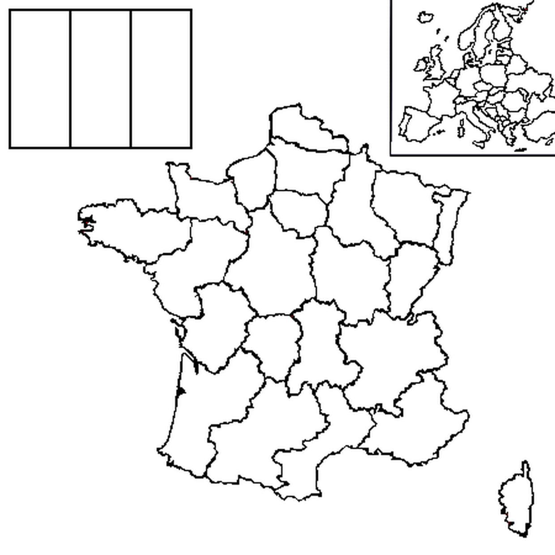 Coloriage Carte France En Ligne Gratuit À Imprimer encequiconcerne Carte De France Avec Département À Imprimer