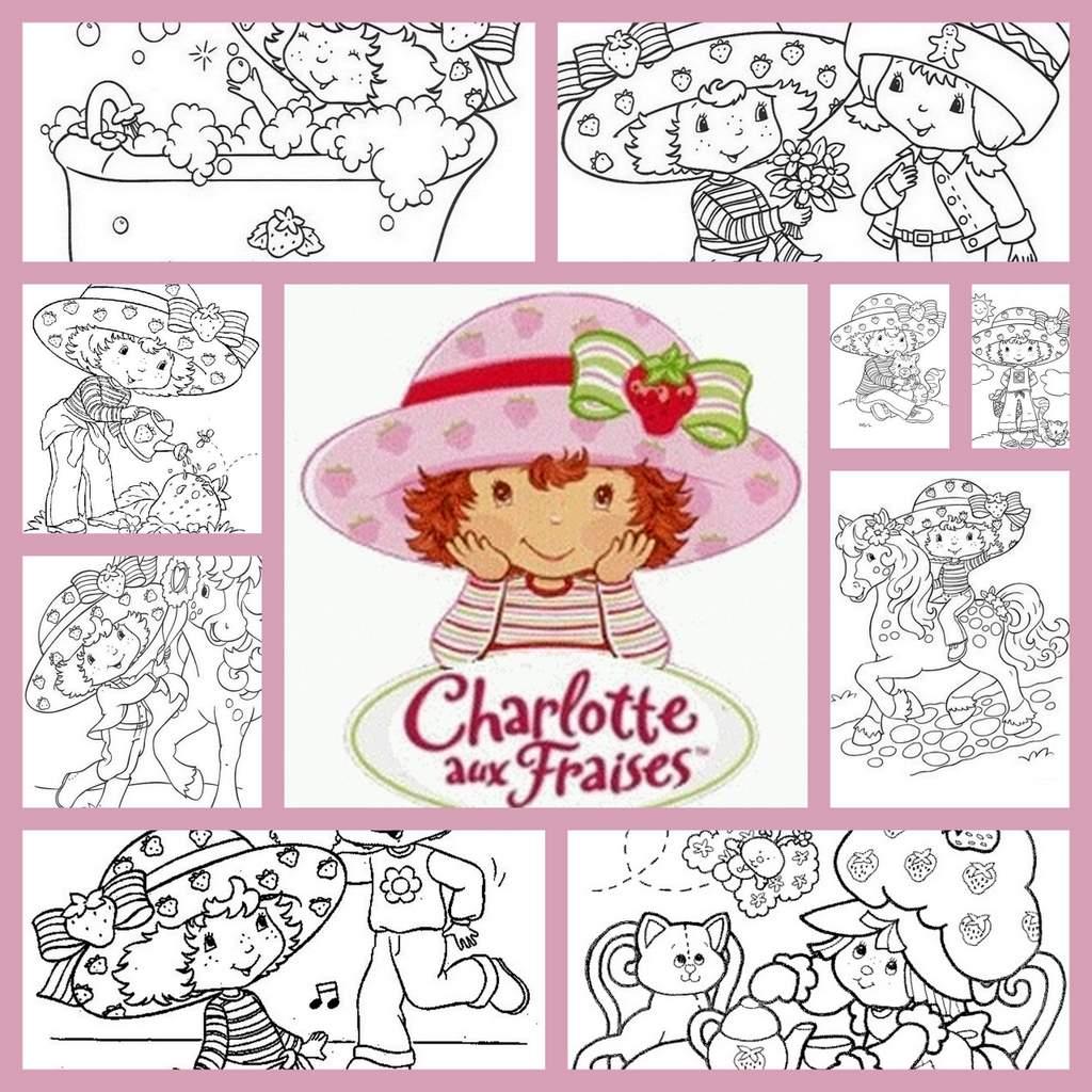 Coloriage Charlotte Aux Fraises à Coloriage Charlotte Aux Fraises Et Ses Amies