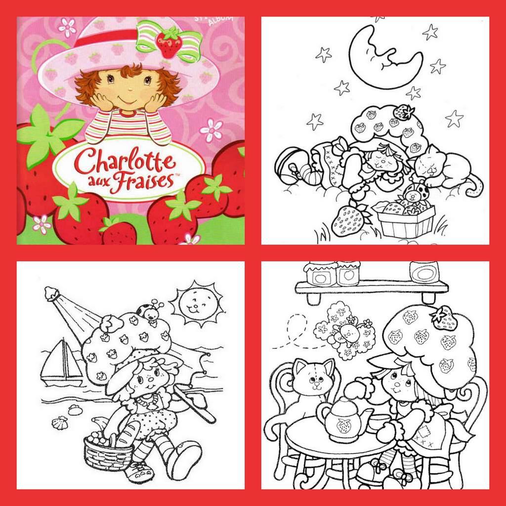 Coloriage Charlotte Aux Fraises dedans Coloriage Charlotte Aux Fraises Et Ses Amies