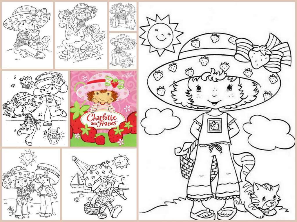 Coloriage Charlotte Aux Fraises encequiconcerne Coloriage Charlotte Aux Fraises Et Ses Amies