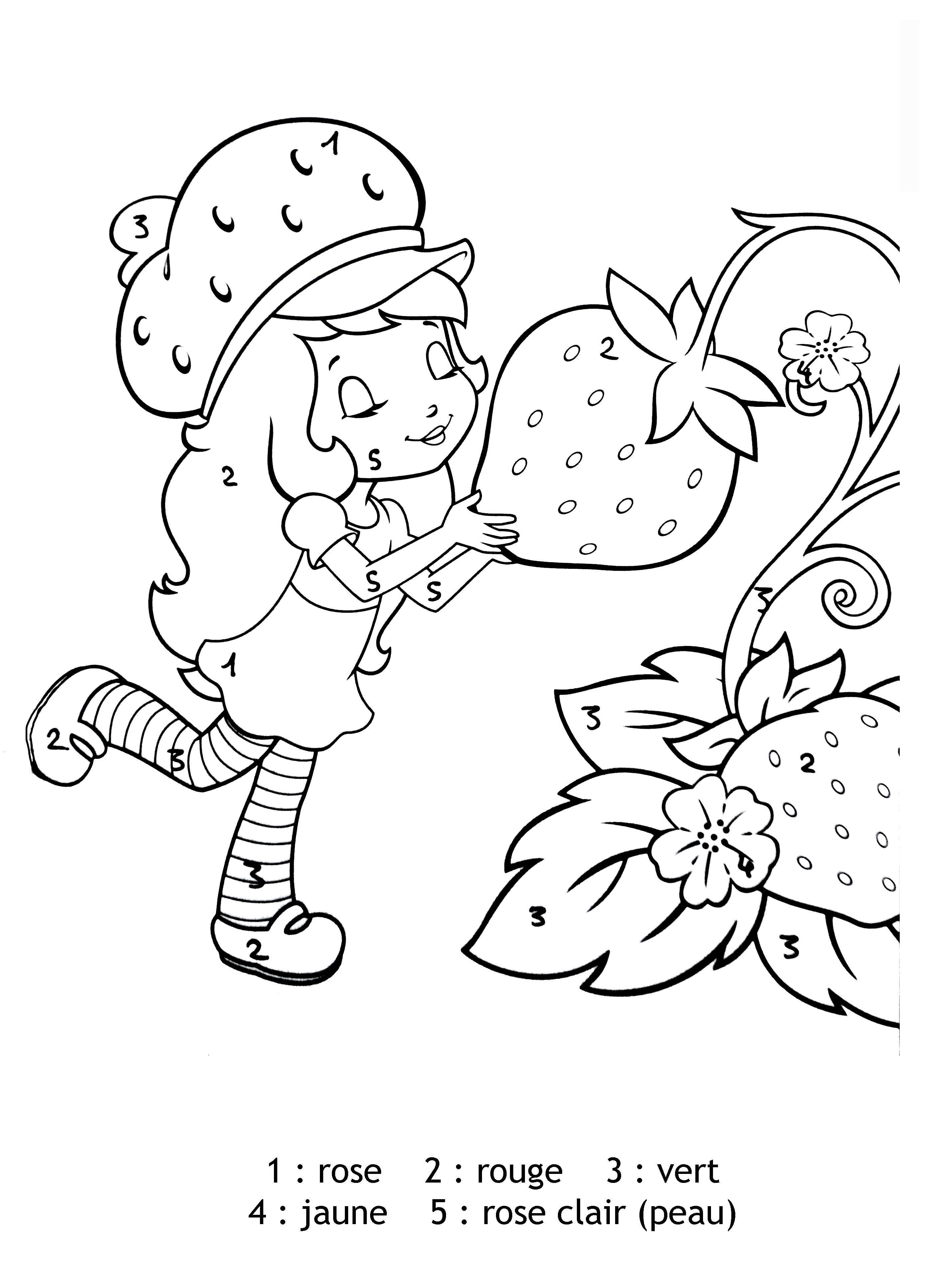 Coloriage Charlotte Aux Fraises Et Ses Amies À Imprimer pour Coloriage Charlotte Aux Fraises Et Ses Amies
