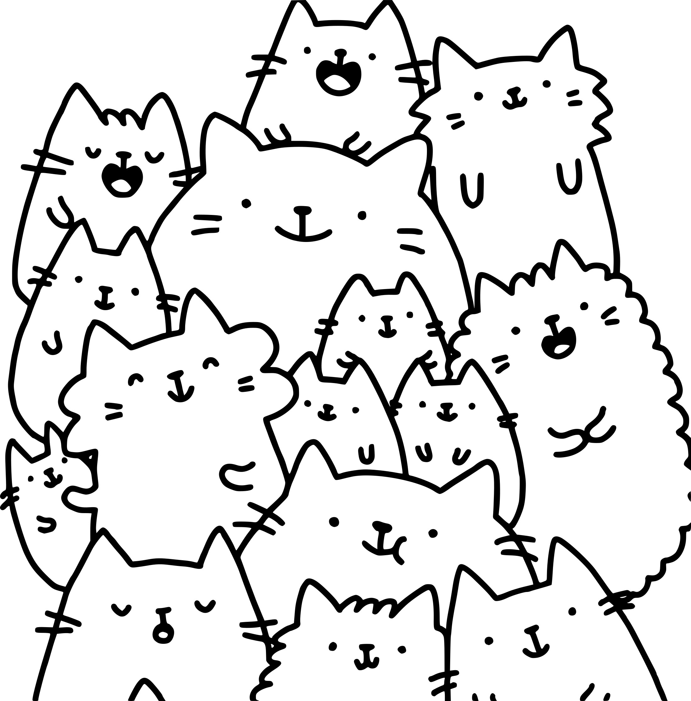 Coloriage Chat Kawaii À Imprimer Sur Coloriages dedans Coloriage Manga Kawaii
