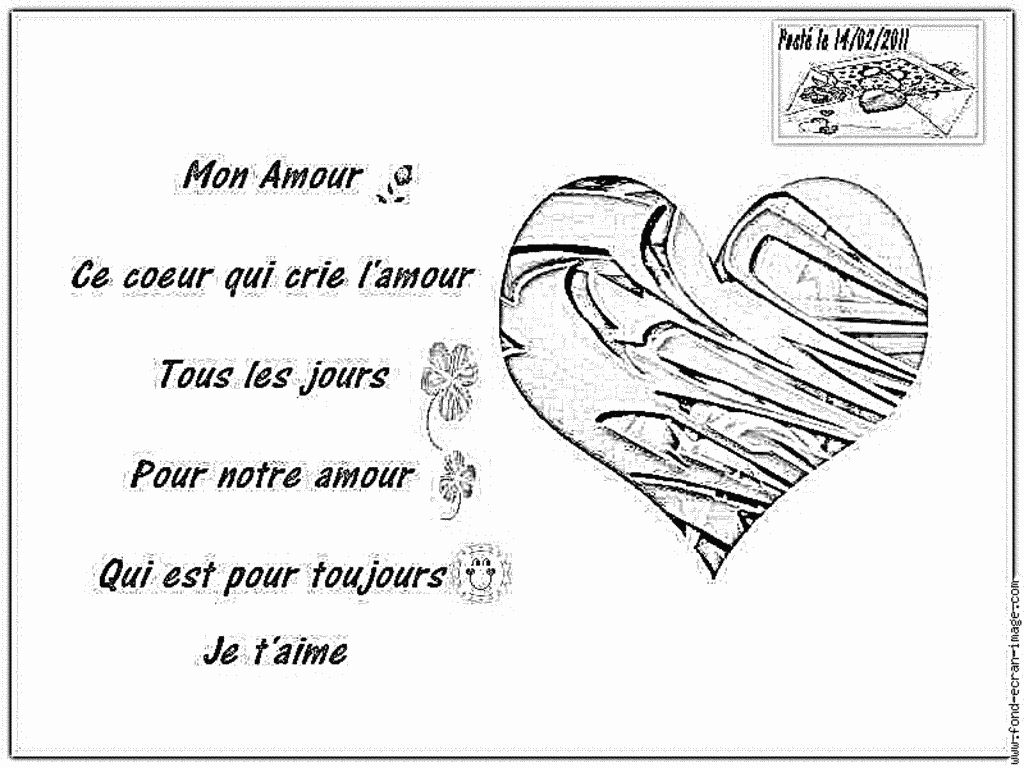 Coloriage Coeur Poste Saint Valentin Bien À Imprimer Pour tout Dessin Pour La Saint Valentin
