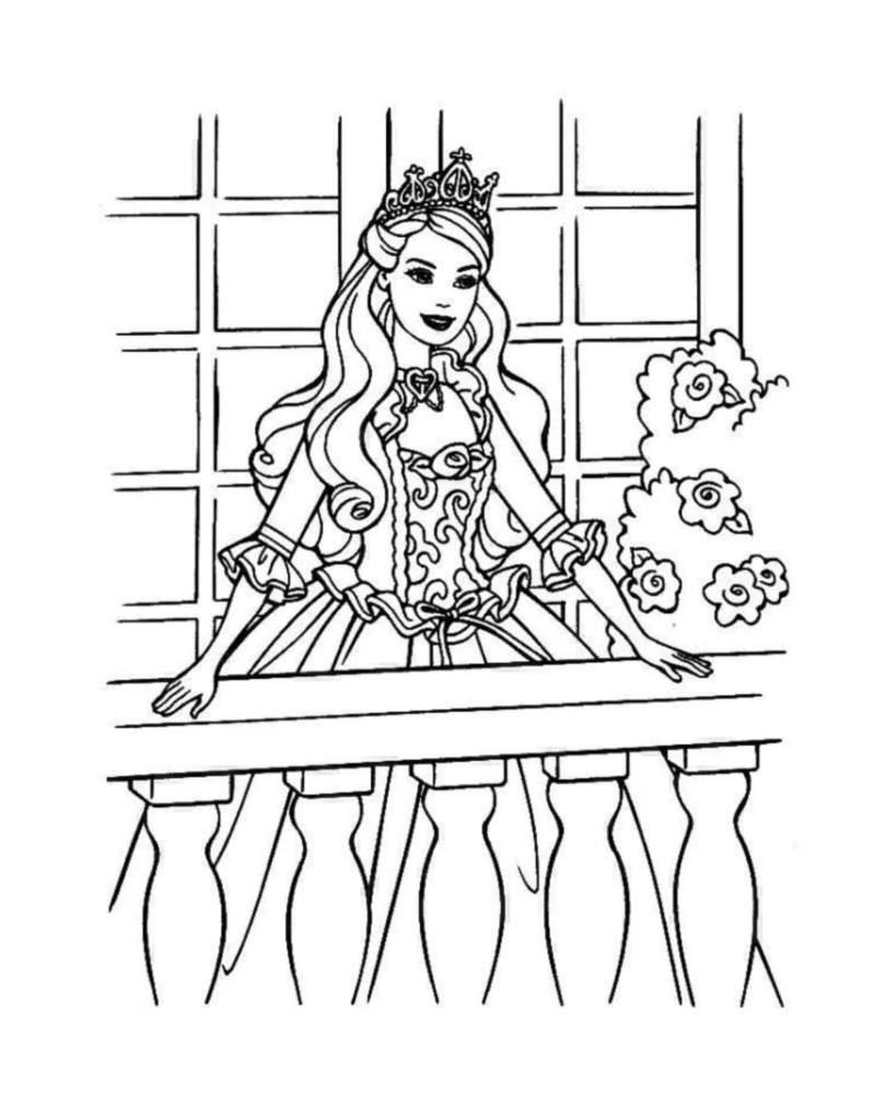Coloriage De Barbie À Imprimer Pour Enfants - Coloriages concernant Imprimer Barbie