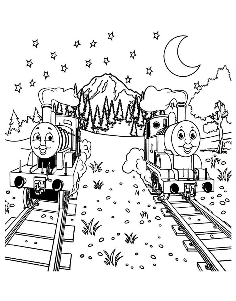 Coloriage De Thomas Et Ses Amis À Imprimer Pour Enfants pour Coloriage Thomas Le Petit Train