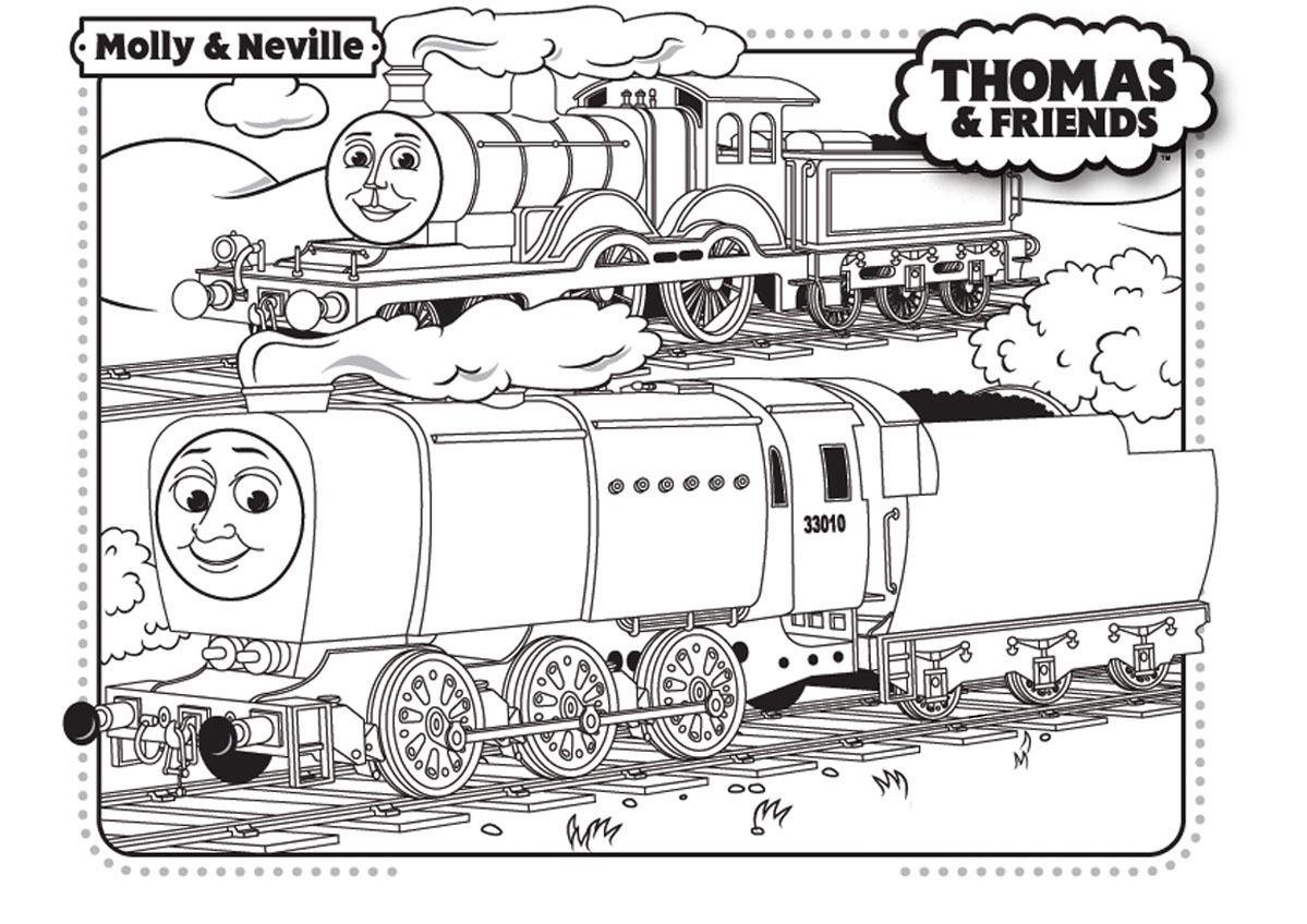 Coloriage De Thomas Et Ses Amis À Telecharger Gratuitement dedans Coloriage Thomas Le Petit Train