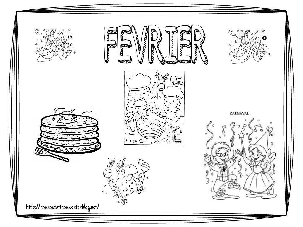 Coloriage Du Mois De Février !! avec Coloriage Février