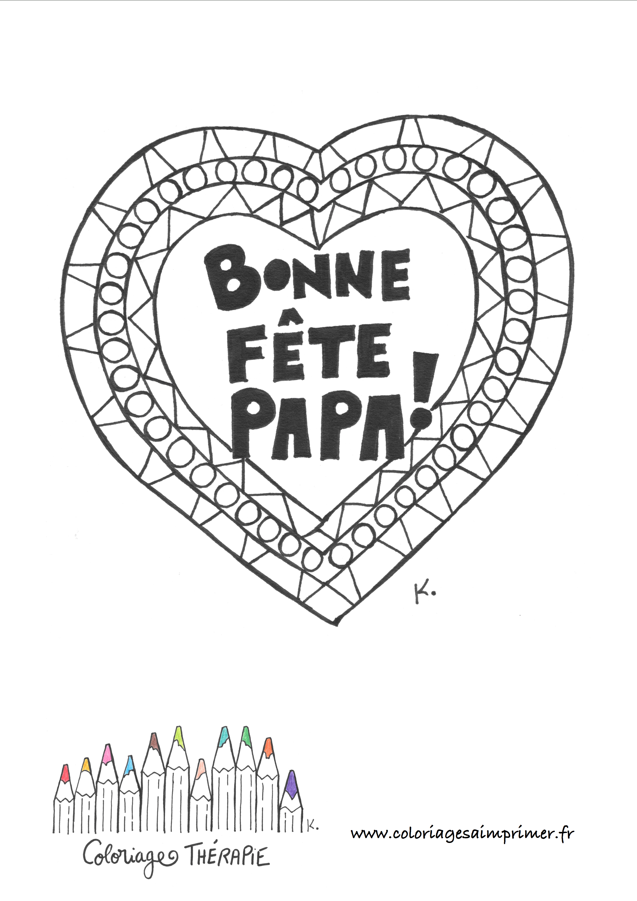 Coloriage Fête Des Pères - Coloriages À Imprimer à Coloriage Fete Des Peres