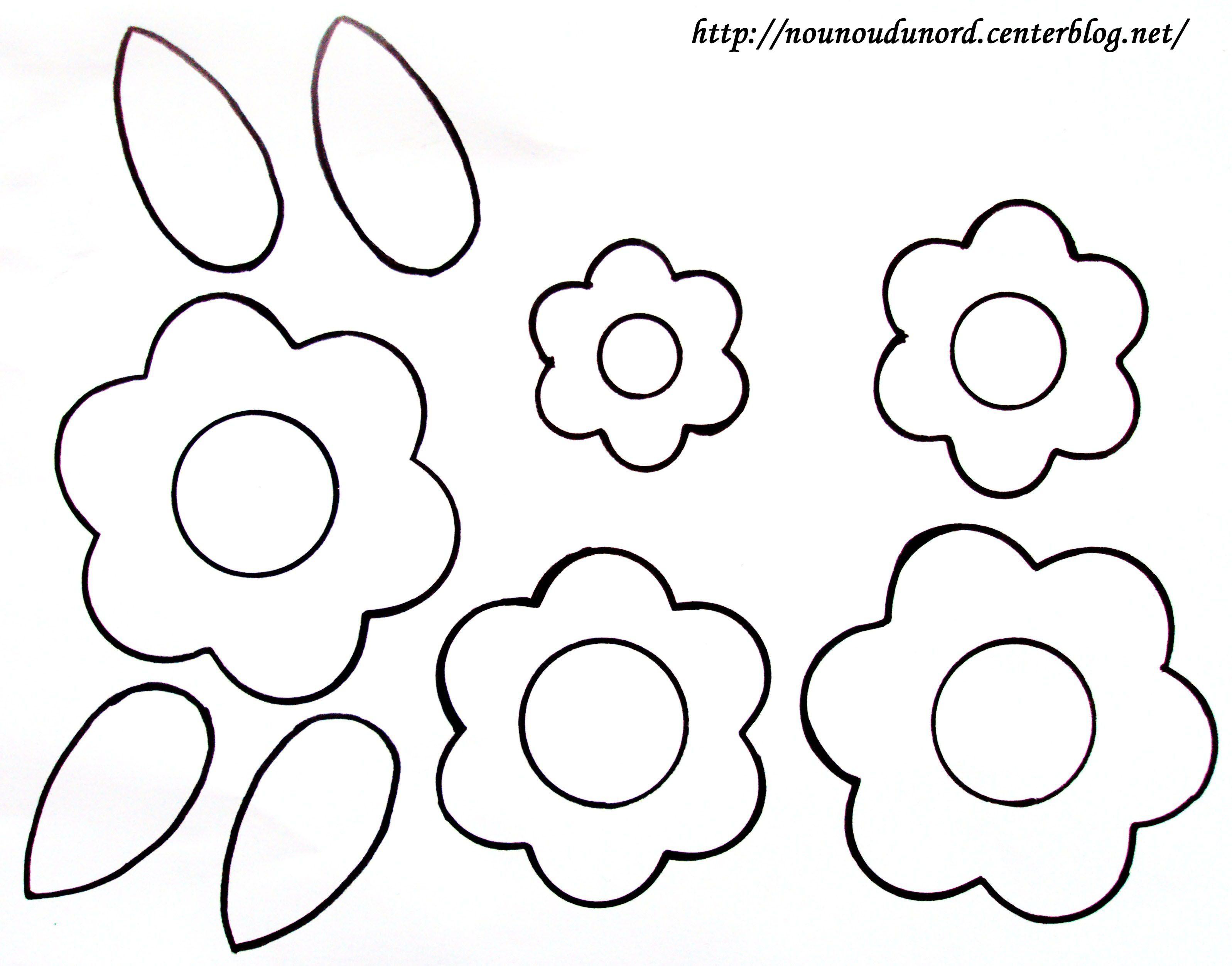 Coloriage Fleurs Pour Réaliser Un Bouquet destiné Découpage Collage Maternelle À Imprimer