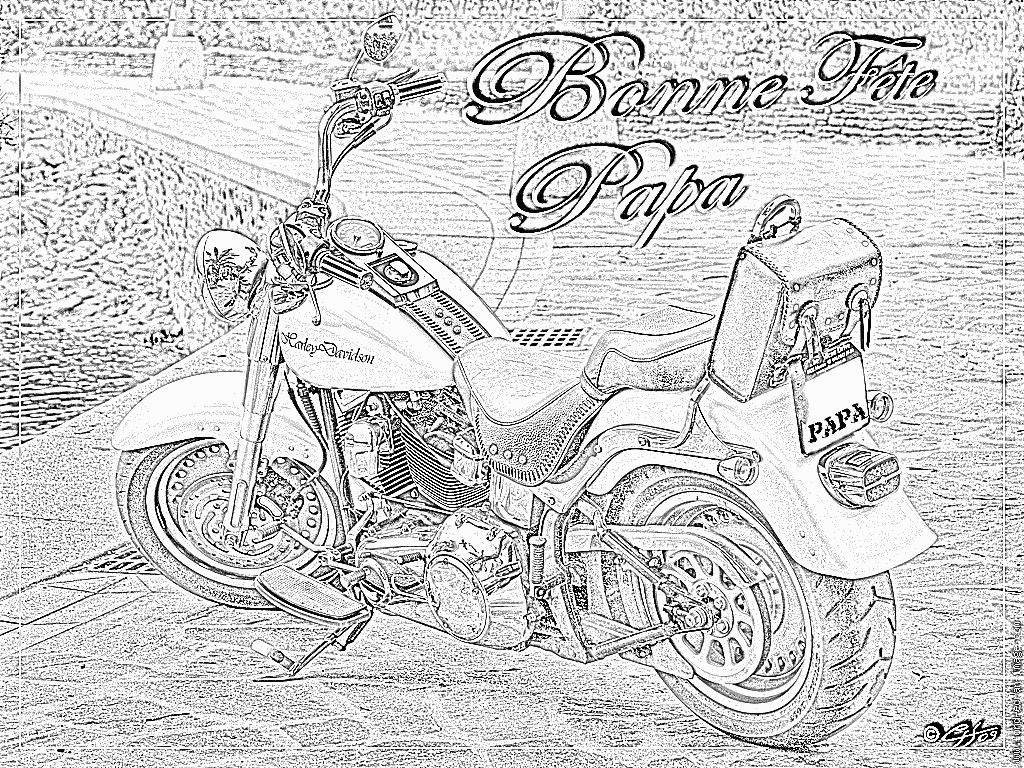 Coloriage Harley Davidson Pour Papa À Imprimer Pour Les dedans Coloriage Fete Des Peres