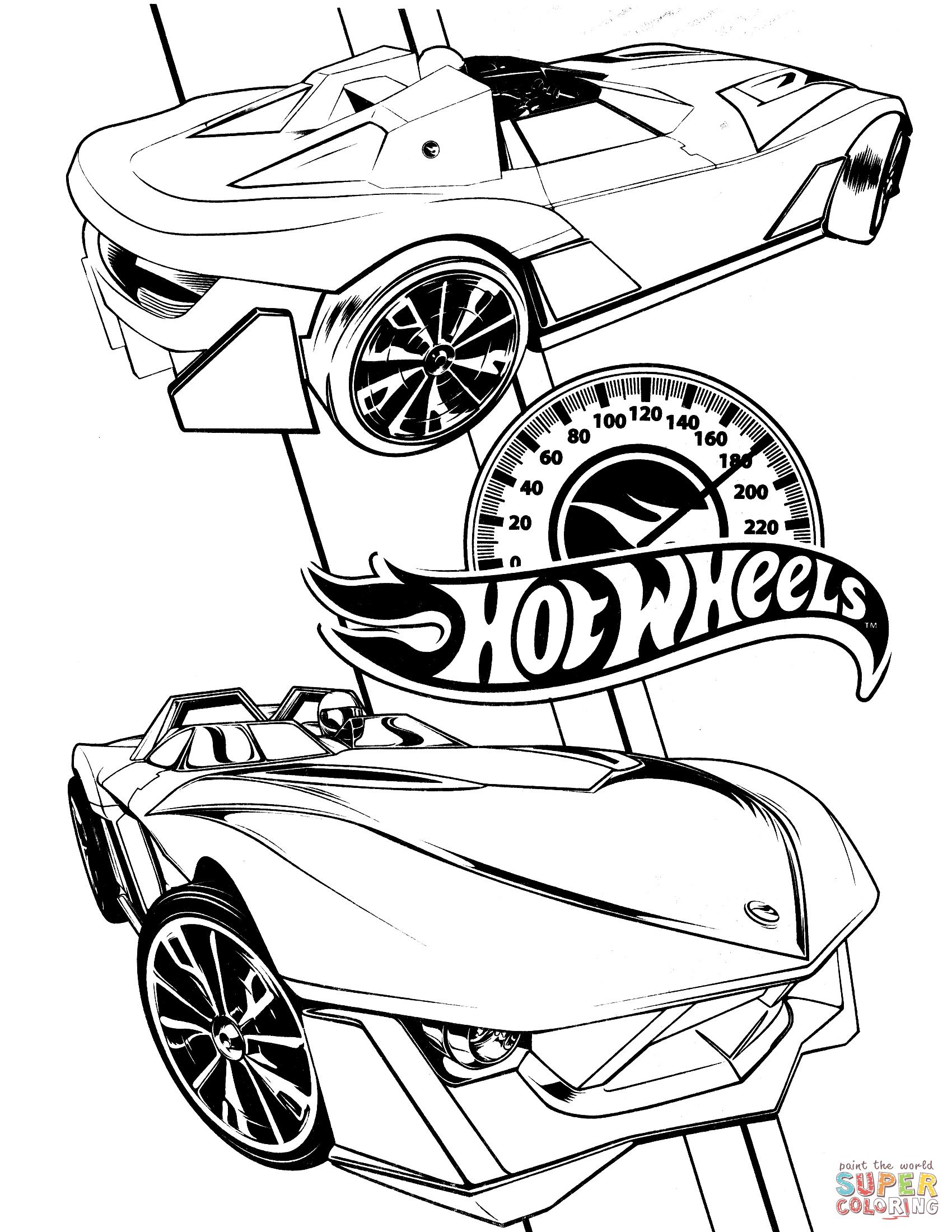Coloriage - Hot Wheels | Coloriages À Imprimer Gratuits intérieur Coloriage Grande Roue