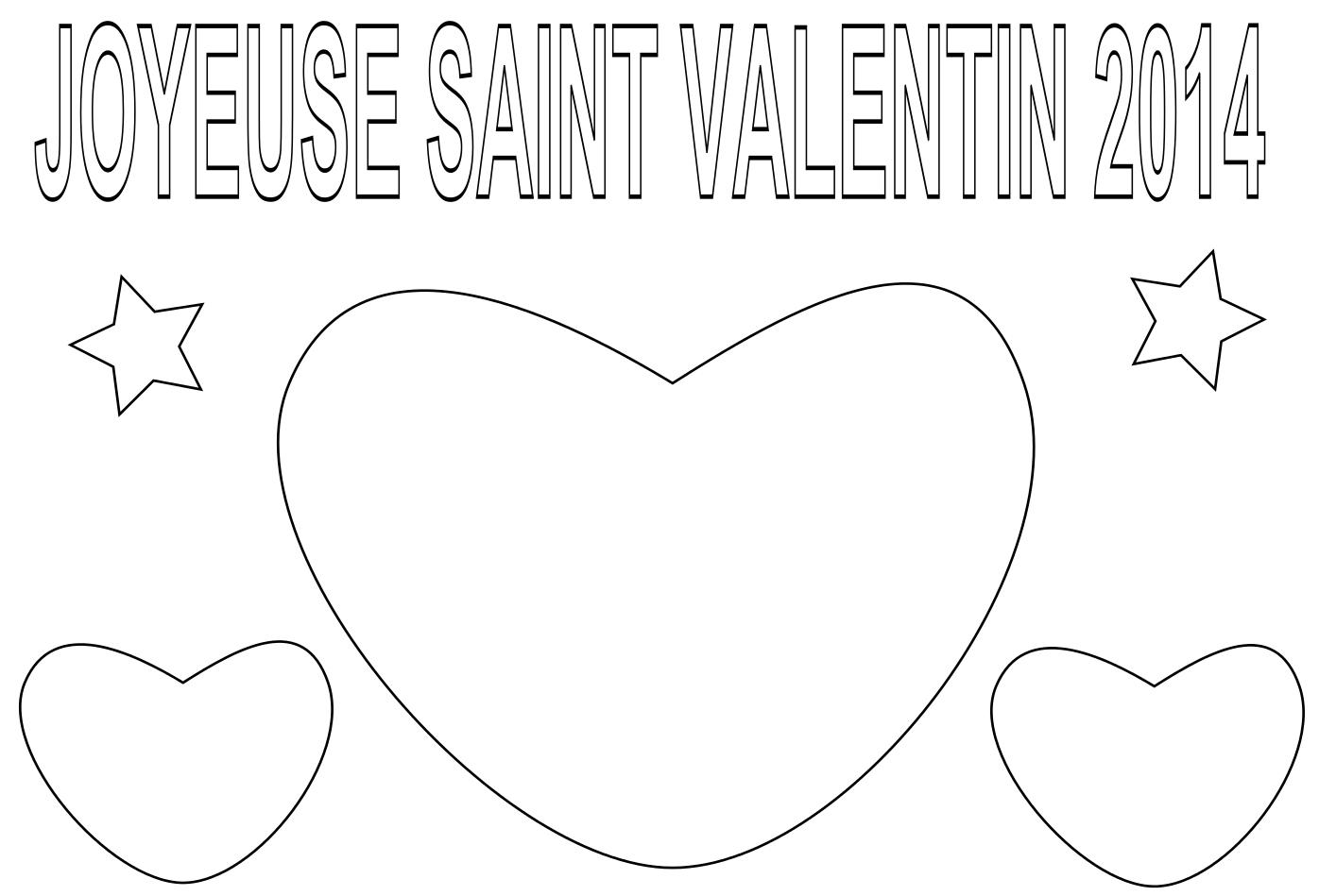 Coloriage Joyeuse Saint Valentin 2014 À Imprimer Et Colorier dedans Coloriage De St Valentin
