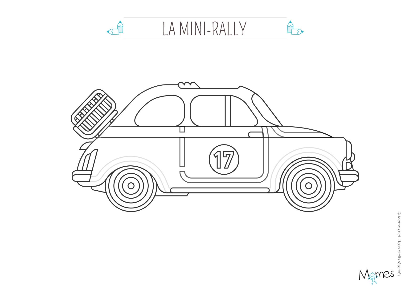 Coloriage La Voiture De Rallye - Momes concernant Coloriage Vehicule