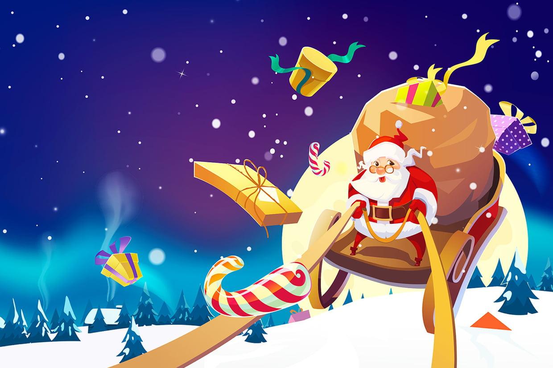 Coloriage Le Traineau Du Père Noël Sur Hugolescargot avec Image Du Pere Noel Et Son Traineau
