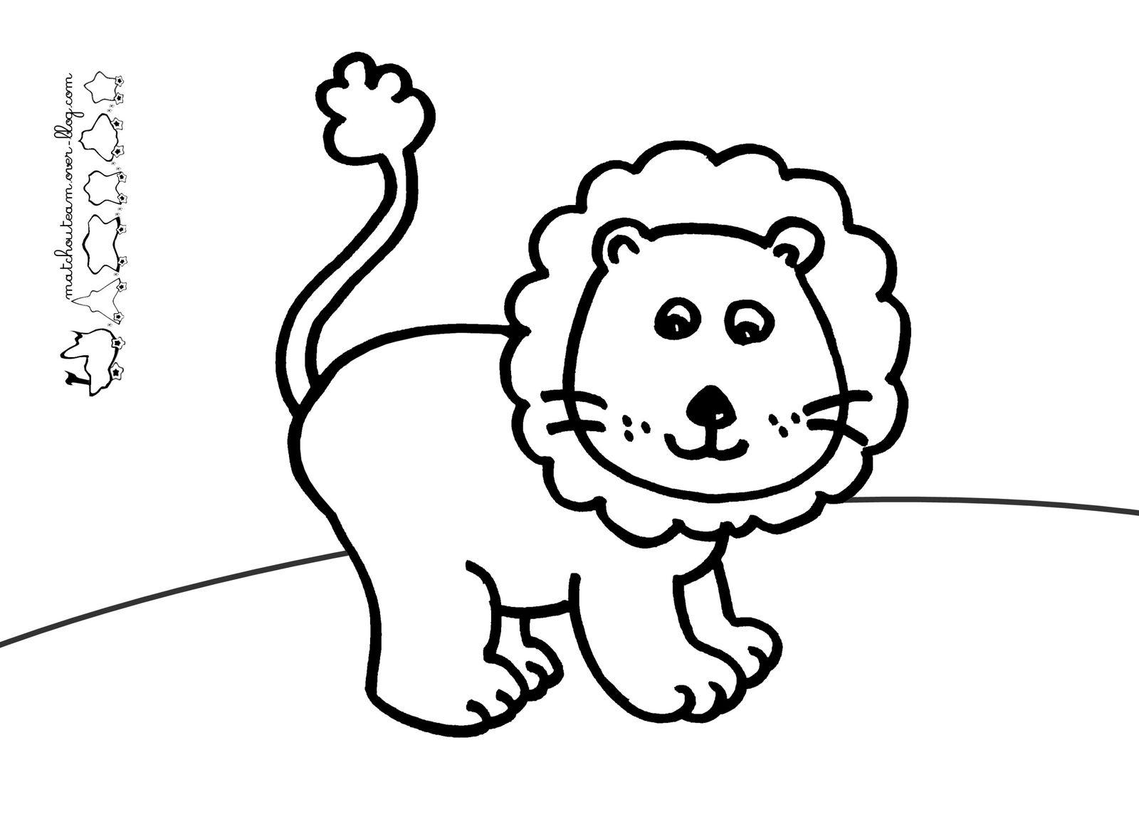 Coloriage Lion À Imprimer - Ma Tchou Team à Dessin De Vague A Imprimer