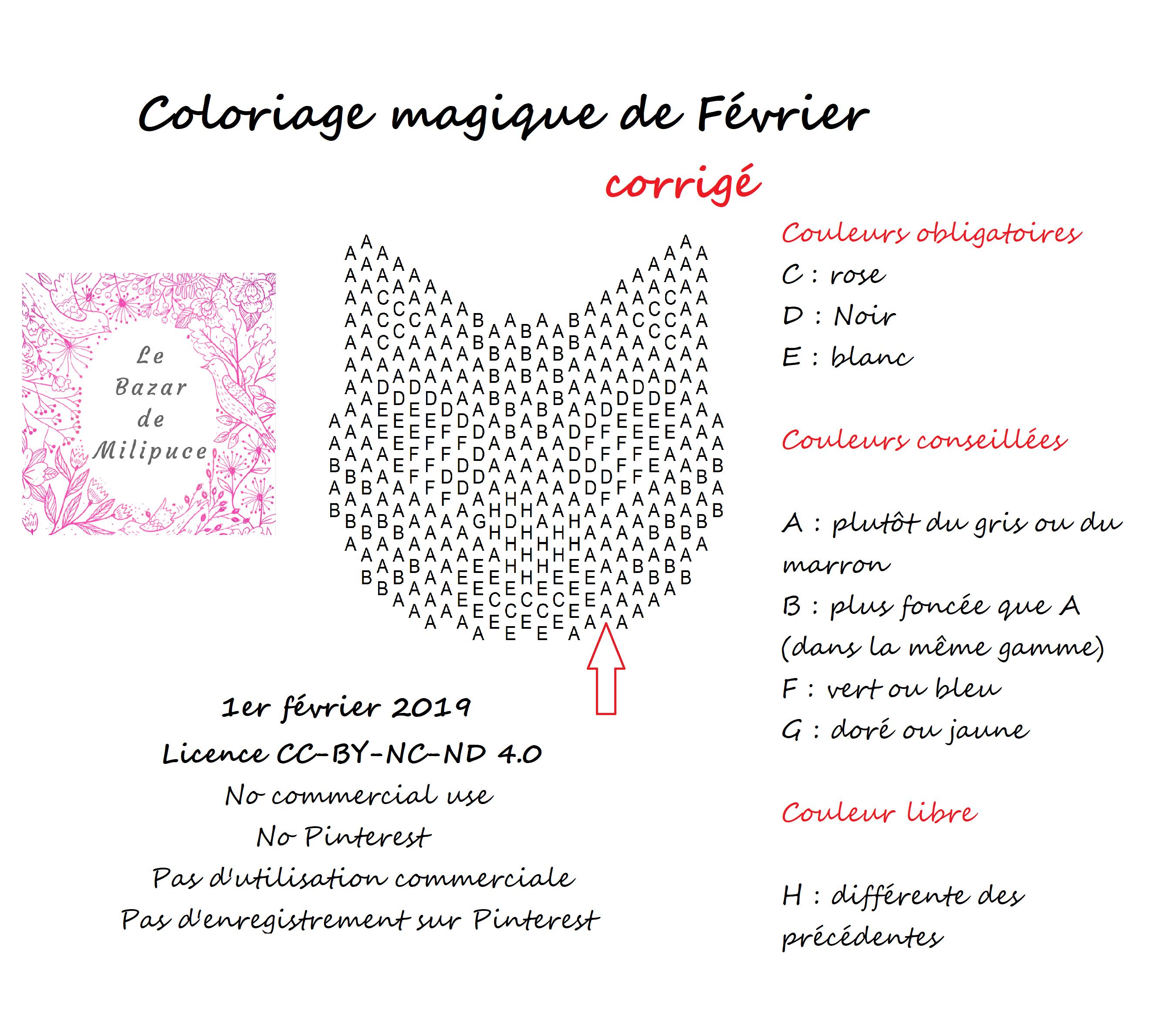 Coloriage Magique #3 tout Coloriage Février