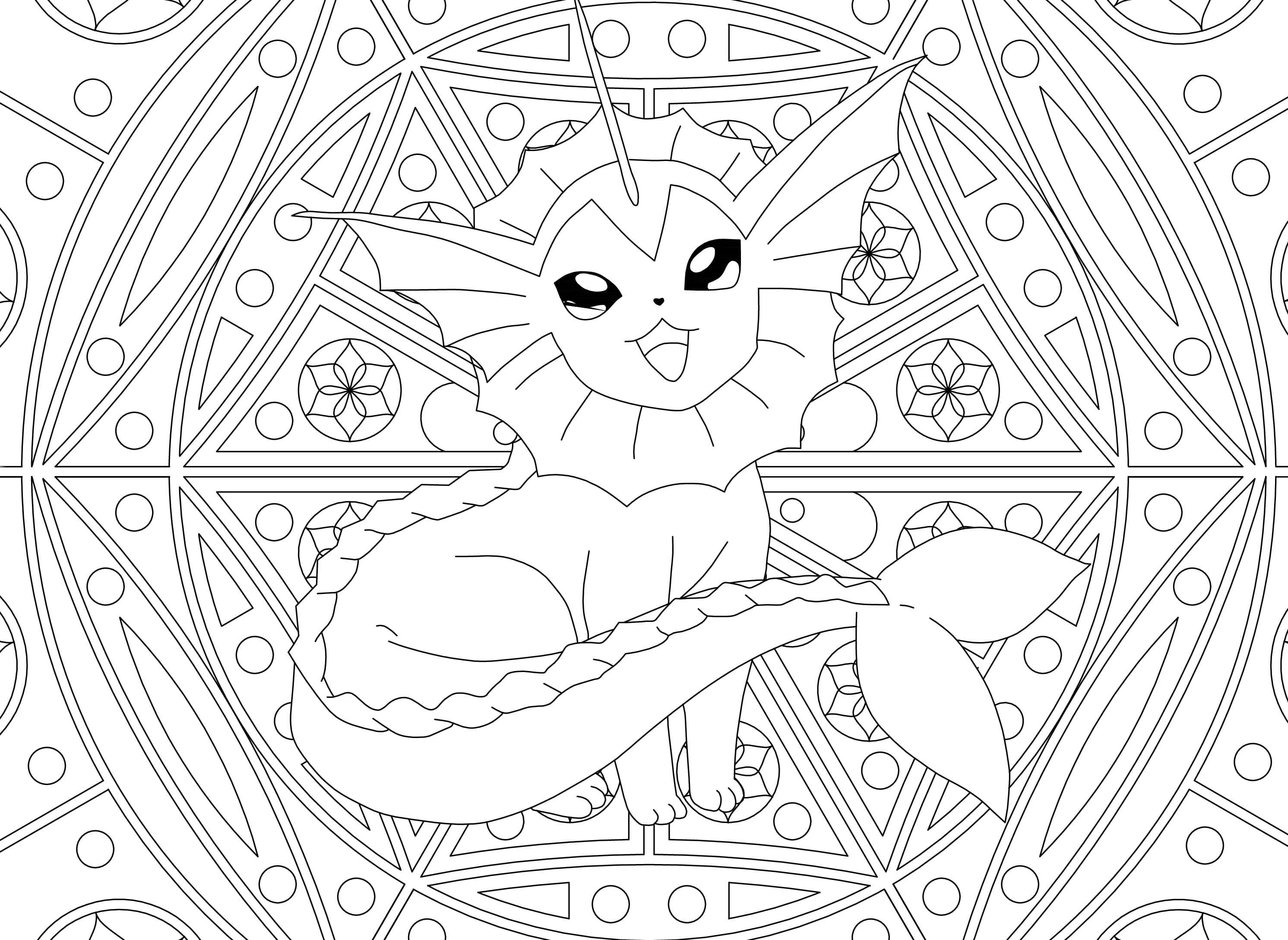 Coloriage Mandala Pokemon. Imprimez Gratuitement, Plus De 80 avec Coloriage De Pokémon Gratuit