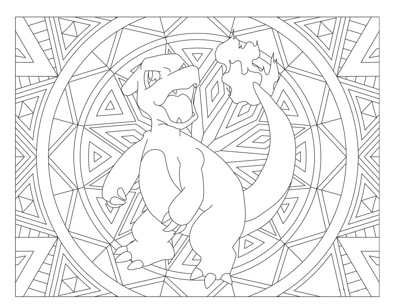 Coloriage Mandala Pokemon. Imprimez Gratuitement, Plus De 80 encequiconcerne Coloriage De Pokémon Gratuit