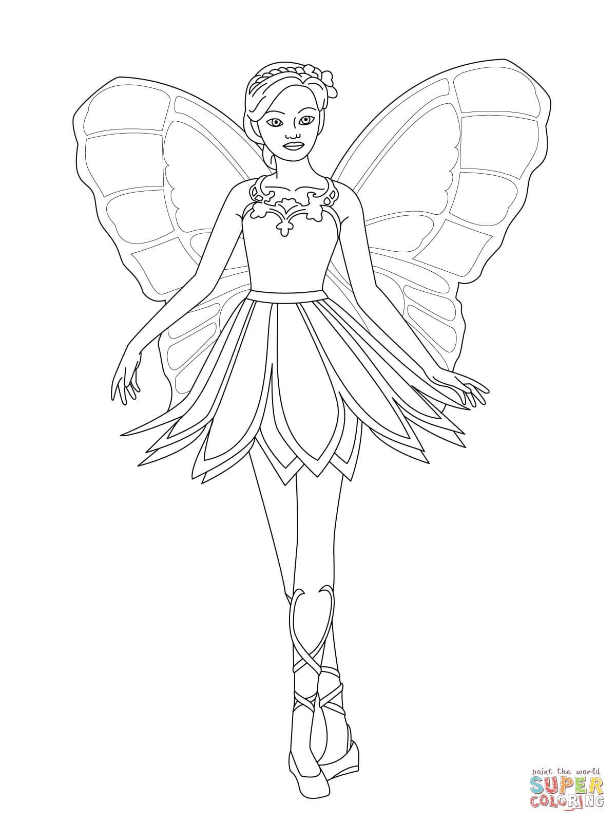 Coloriage - Mariposa | Coloriages À Imprimer Gratuits concernant Coloriage Charlotte Aux Fraises Et Ses Amies