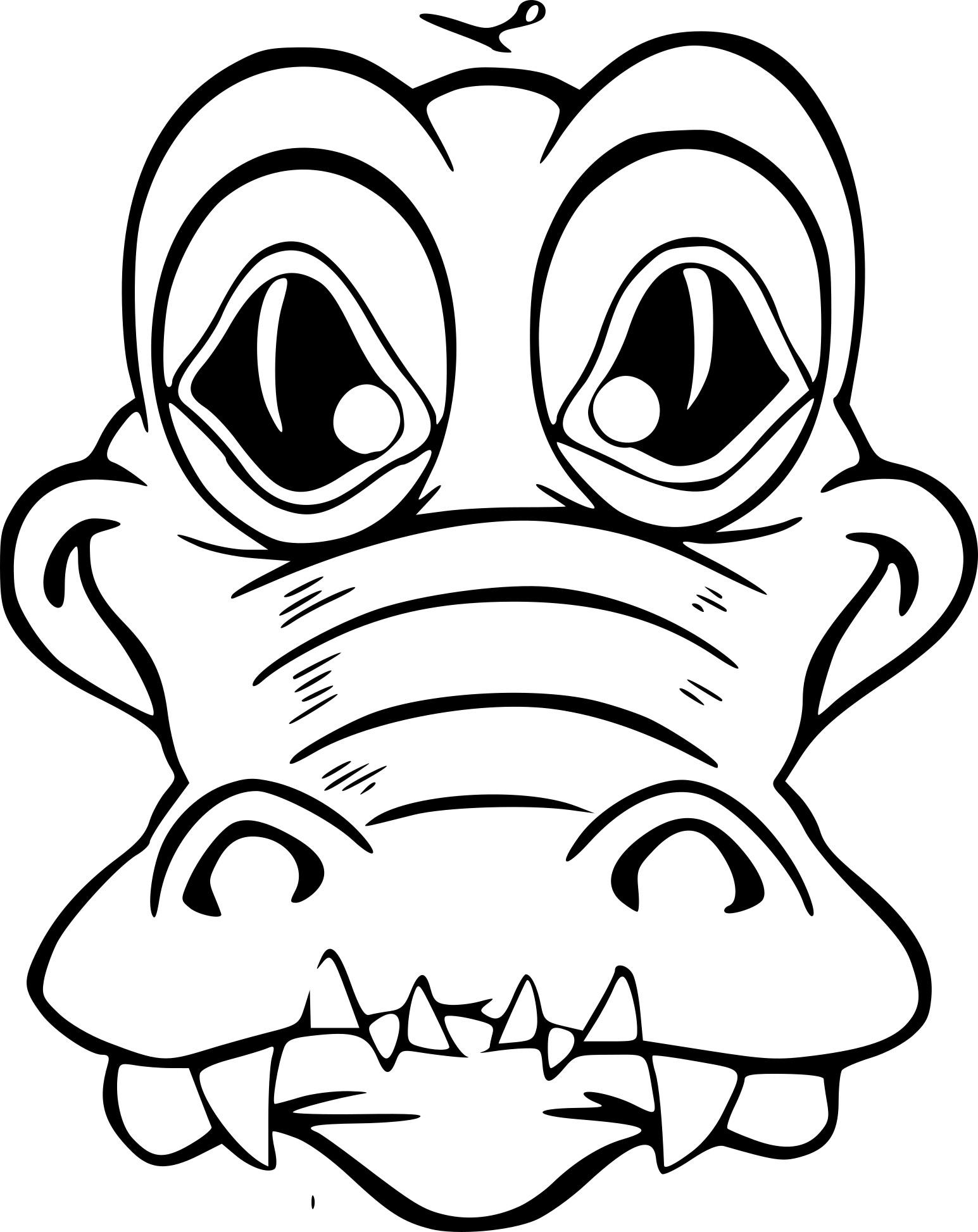 Coloriage Masque Crocodile À Imprimer Sur Coloriages concernant Photo De Crocodile A Imprimer