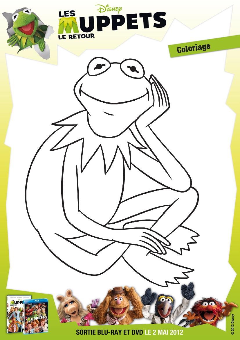 Coloriage Muppets destiné Coloriage Charlotte Aux Fraises Et Ses Amies
