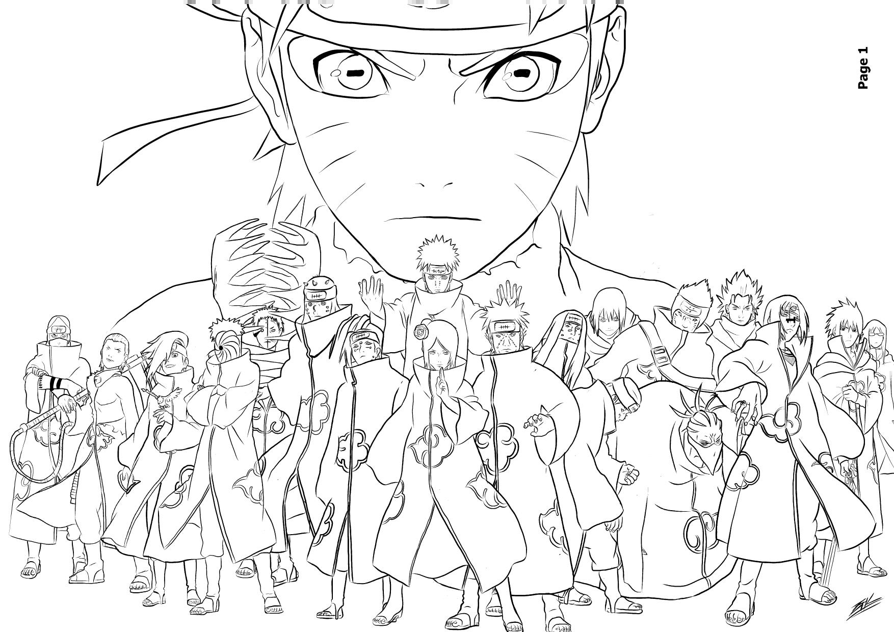 Coloriage Naruto - Les Beaux Dessins De Dessin Animé À serapportantà Coloriage De Naruto Shippuden A Imprimer