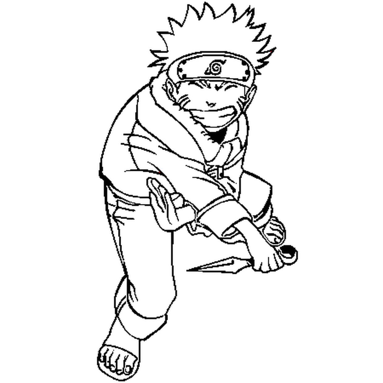 Coloriage Naruto Uzumaki En Ligne Gratuit À Imprimer avec Coloriage De Naruto Shippuden A Imprimer