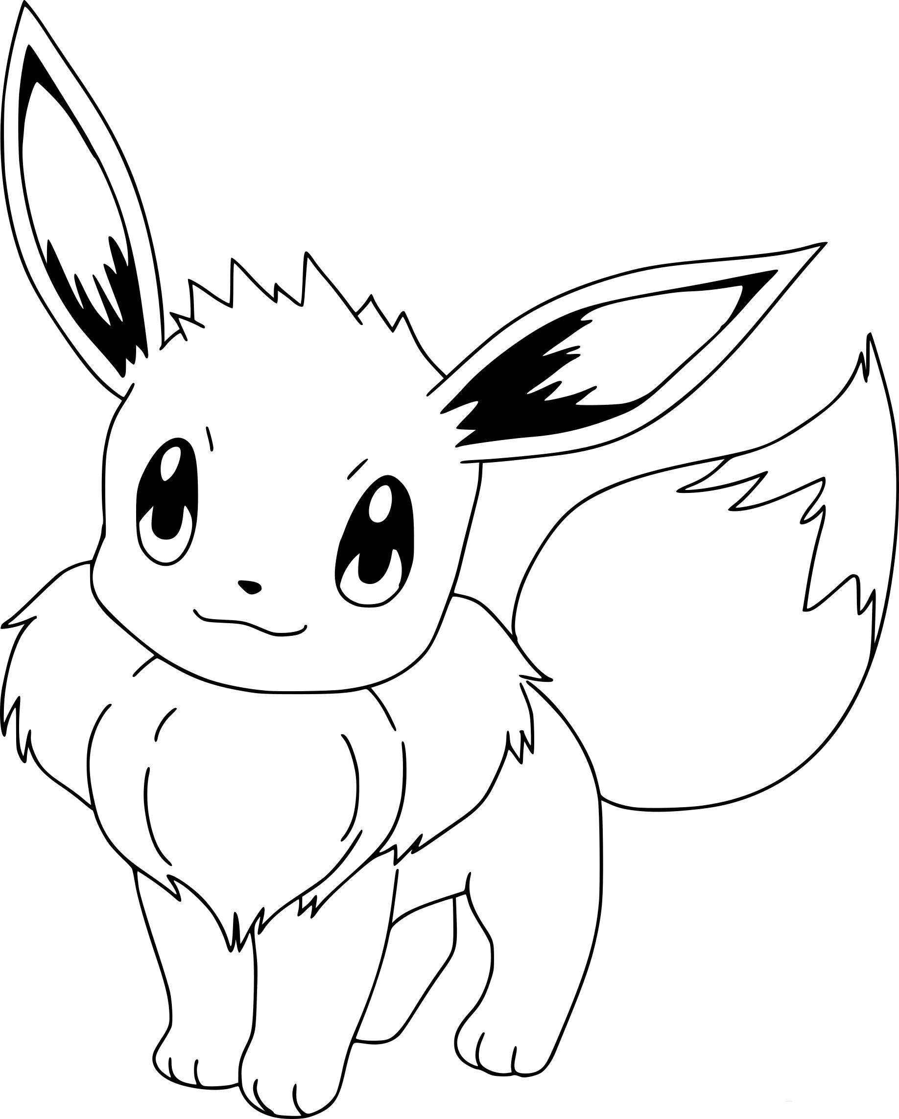 Coloriage Pokemon Evoli Dessin À Imprimer Sur Coloriages intérieur Imprimer Coloriage Pokemon