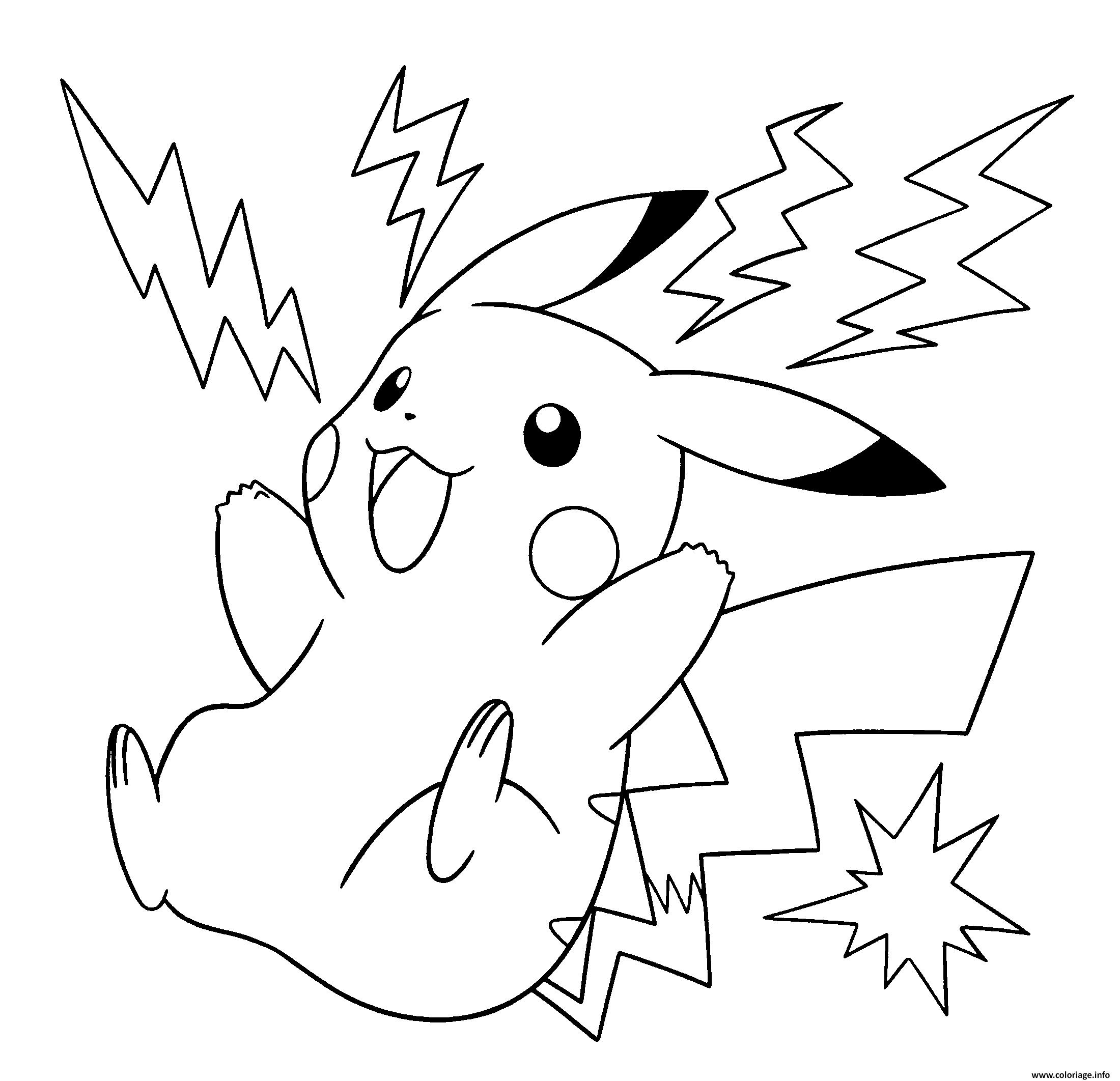 Coloriage Pokemon Pikachu Electrique À Imprimer | Pikachu encequiconcerne Imprimer Coloriage Pokemon