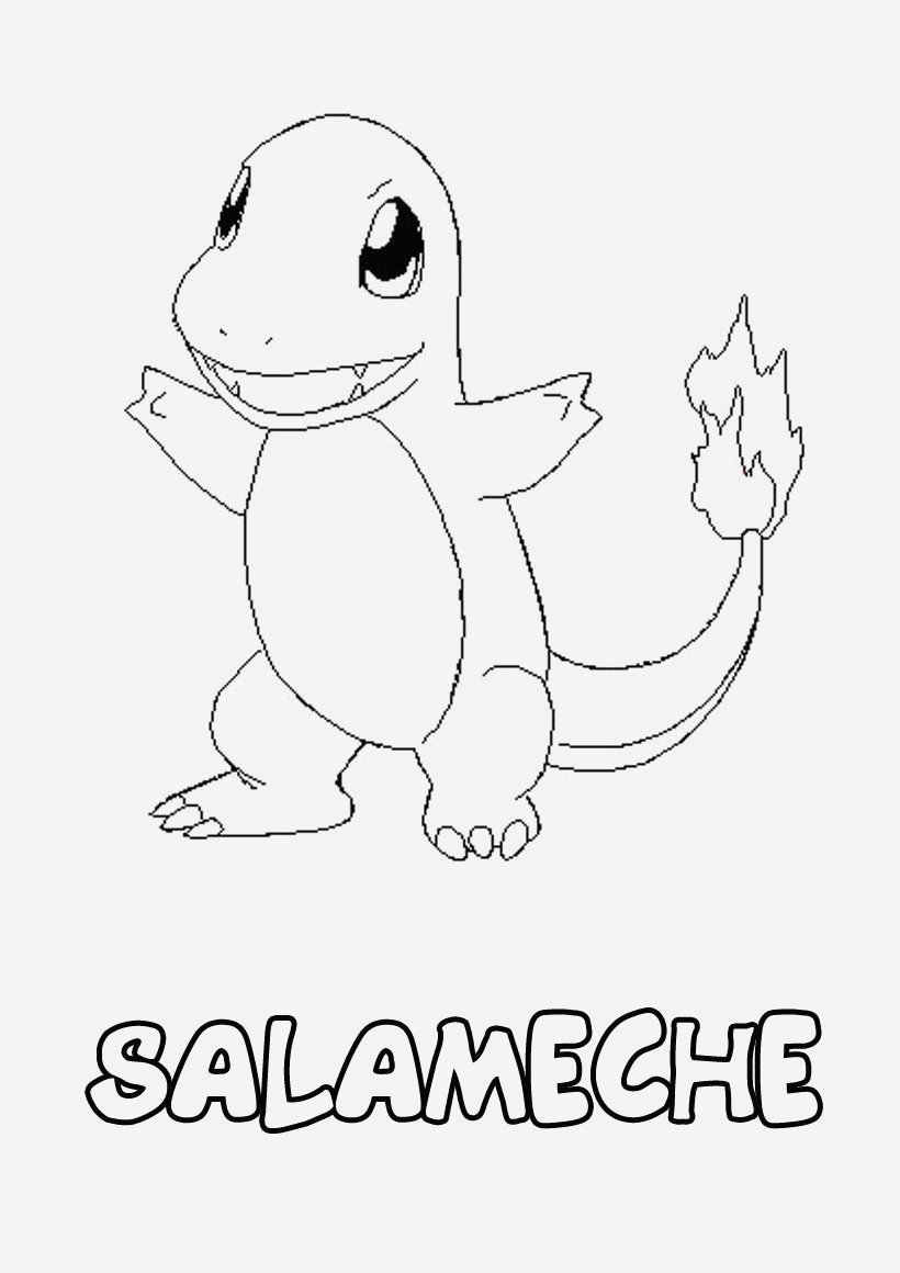 Coloriage Pokemon Salameche Imprimer - Coloriages Gratuits tout Imprimer Coloriage Pokemon