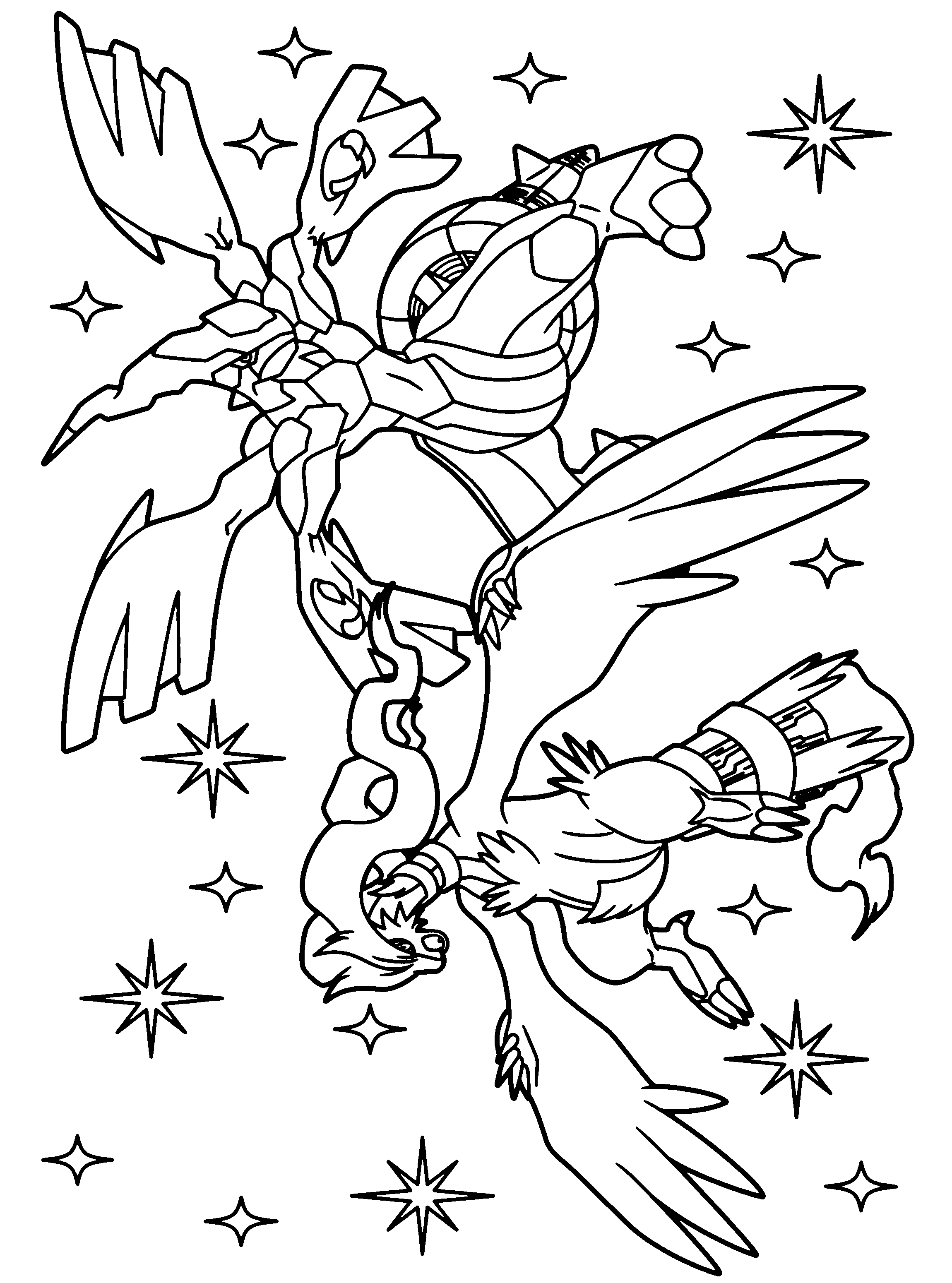 Coloriage Pokemon Zekrom Et Reshiram À Imprimer dedans Imprimer Coloriage Pokemon