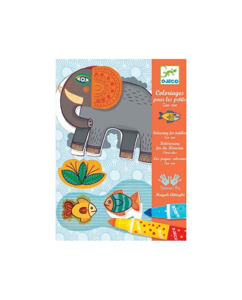 Coloriage Pour Les Petits : Zoo Zoo - Lutin Ludique avec Coloriage Thomas Le Petit Train