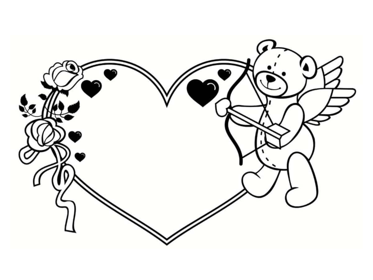 Coloriage Saint Valentin : 40 Dessins À Imprimer Gratuitement encequiconcerne Dessin Pour La Saint Valentin