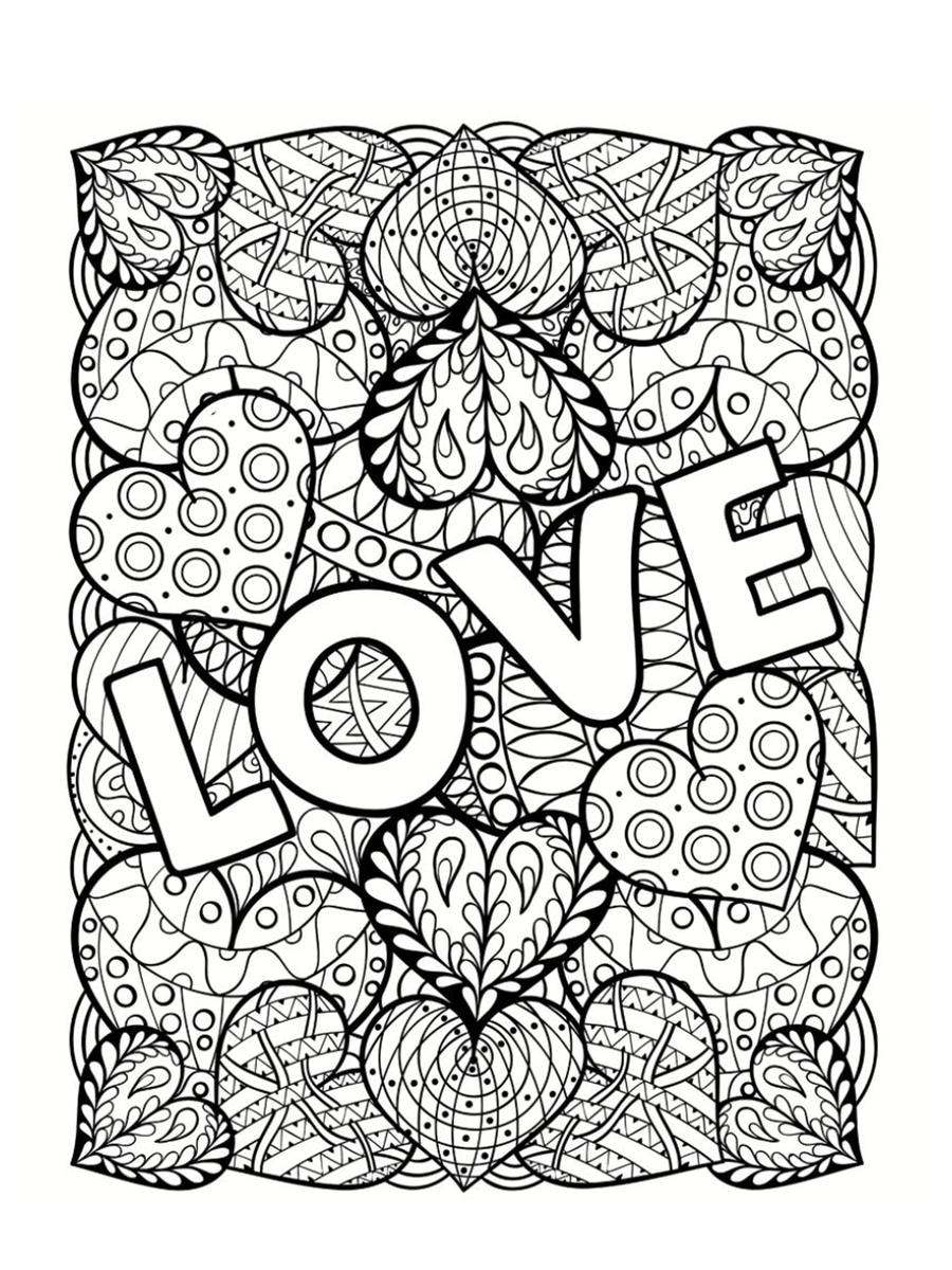 Coloriage Saint Valentin : 40 Dessins À Imprimer Gratuitement intérieur Coloriage De St Valentin