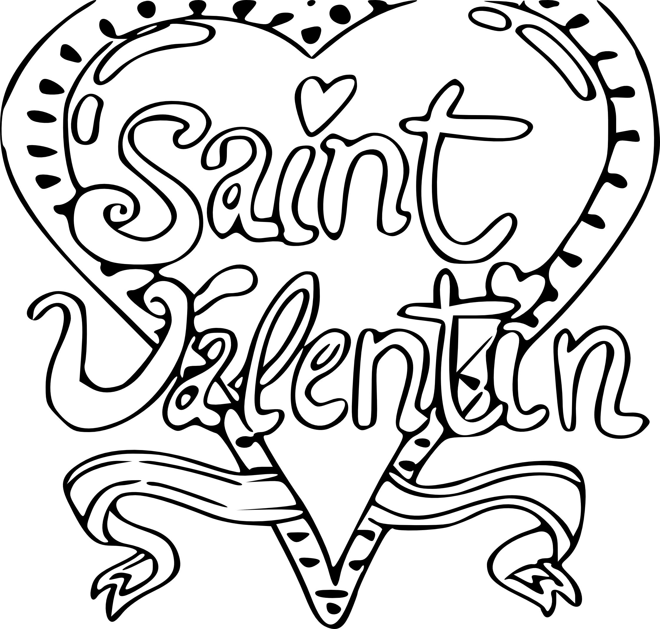 Coloriage Saint Valentin À Imprimer avec Coloriage De St Valentin
