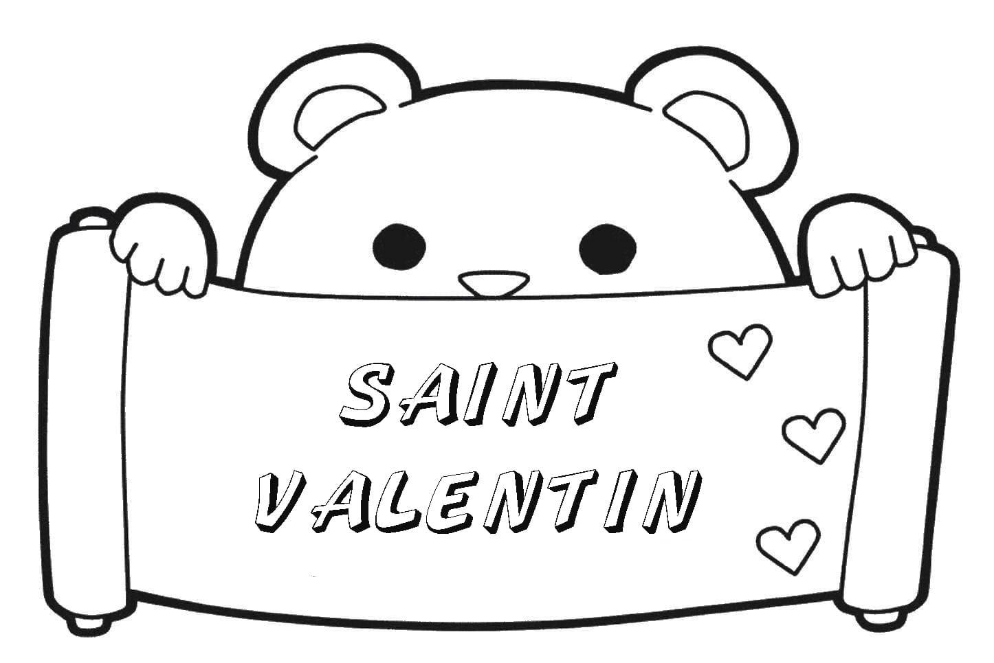 Coloriage Saint Valentin. Imprimer Les Images 14 Février dedans Coloriage Février