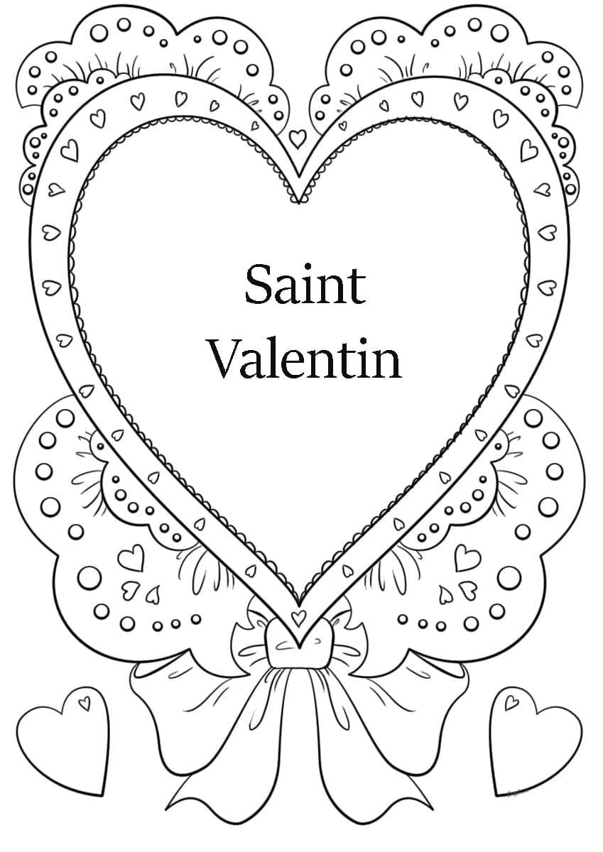 Coloriage Saint Valentin. Imprimer Les Images 14 Février intérieur Coloriage De St Valentin
