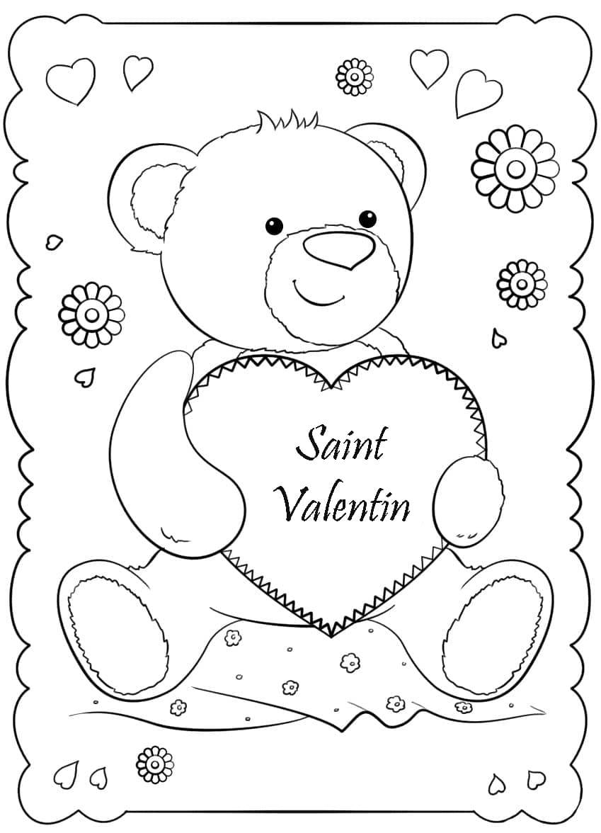 Coloriage Saint Valentin. Imprimer Les Images 14 Février tout Coloriage Février