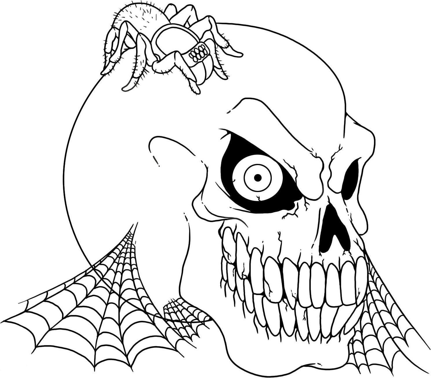Coloriage Squelette Tête À Imprimer tout Squelette A Imprimer