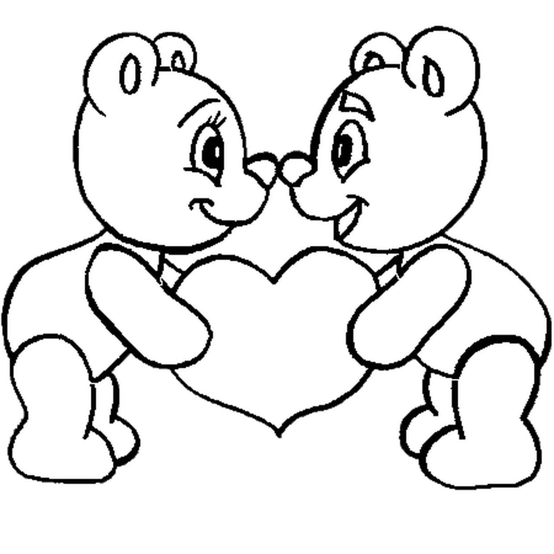 Coloriage St Valentin En Ligne Gratuit À Imprimer avec Dessin Pour La Saint Valentin