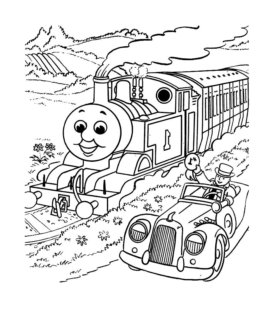 Coloriage Thomas Et Ses Amis - Coloriages Pour Enfants avec Coloriage Thomas Le Petit Train