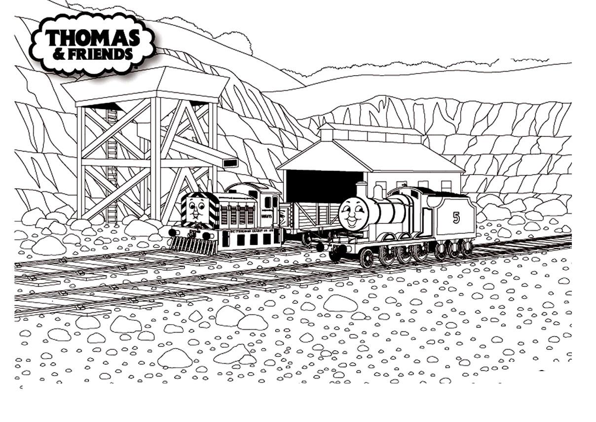 Coloriage Thomas Et Ses Amis - Coloriages Pour Enfants tout Coloriage Thomas Le Petit Train