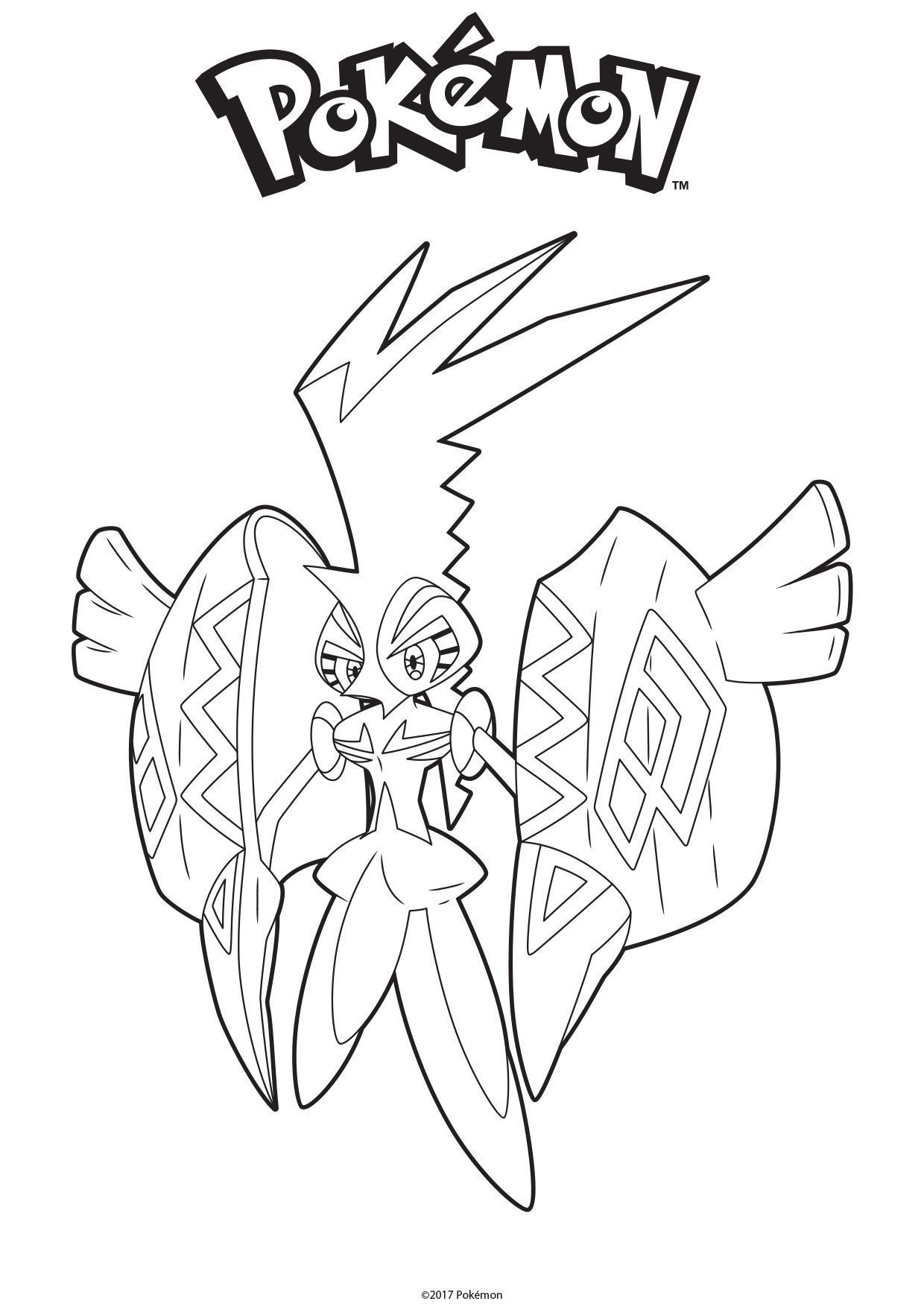 Coloriage Tokorico - Coloriage Pokemon - Coloriages Dessins encequiconcerne Coloriage De Pokémon Gratuit